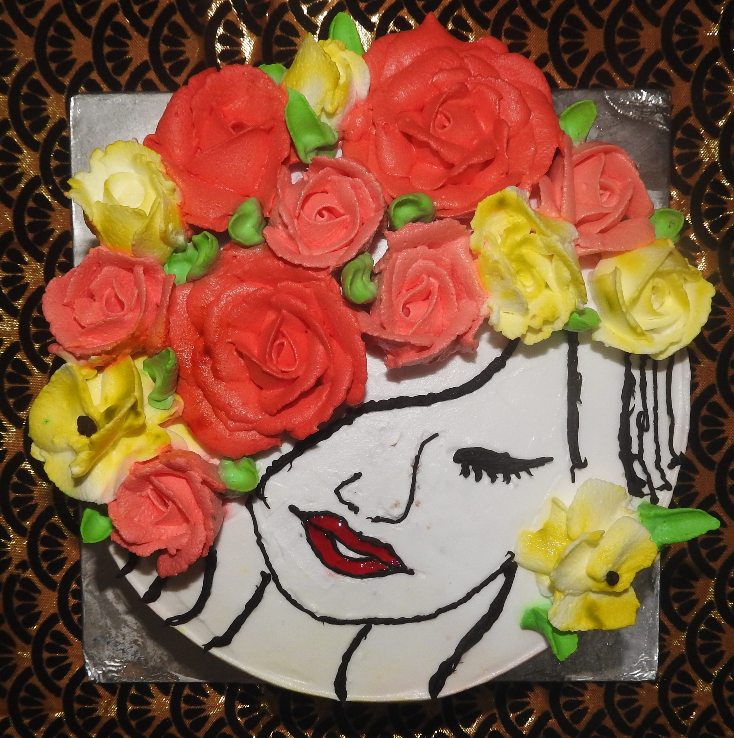 Designed Birthday Cake
