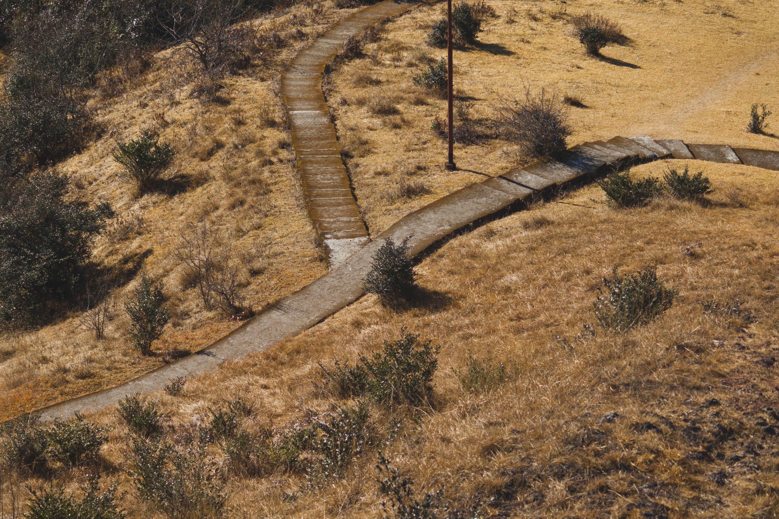 Footpath made on a land