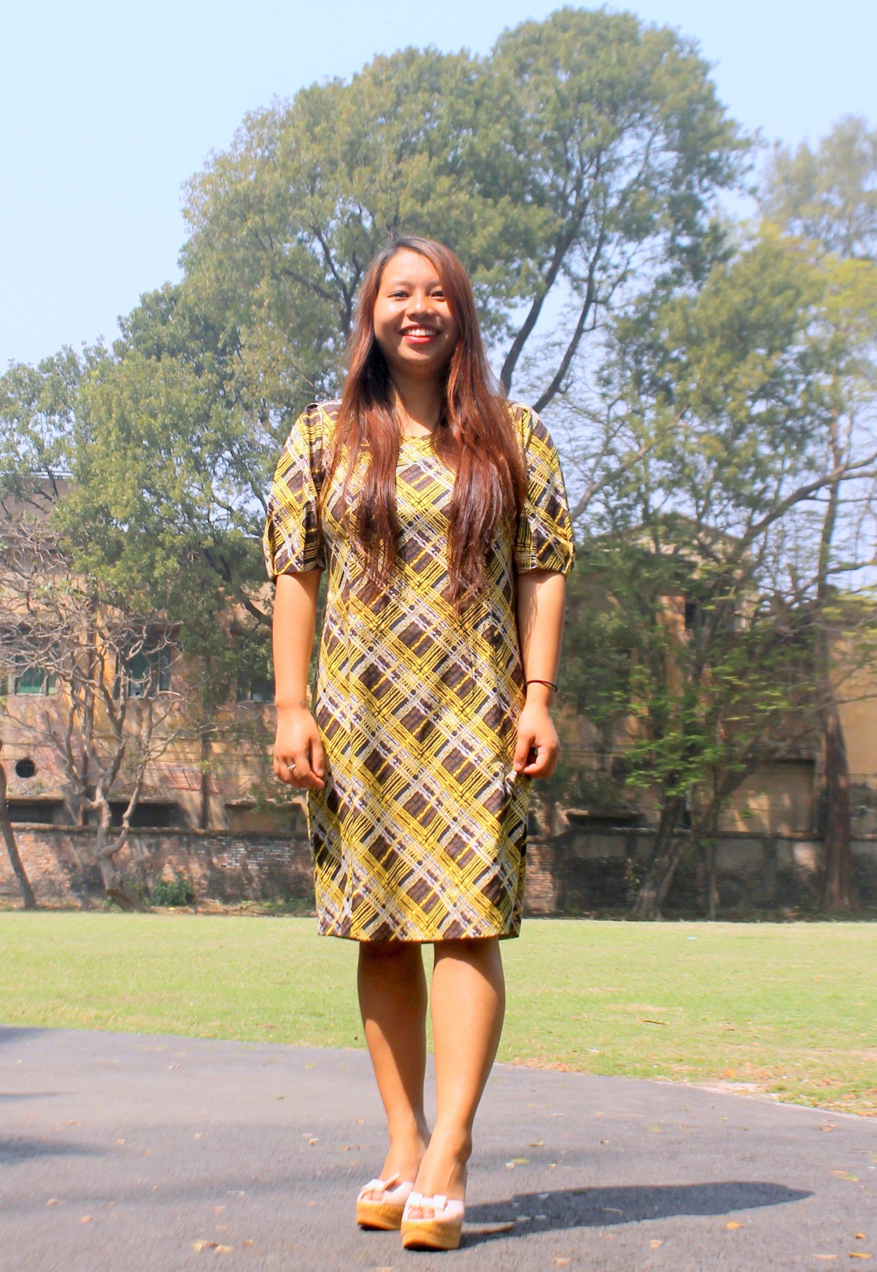 Girl posing while smiling
