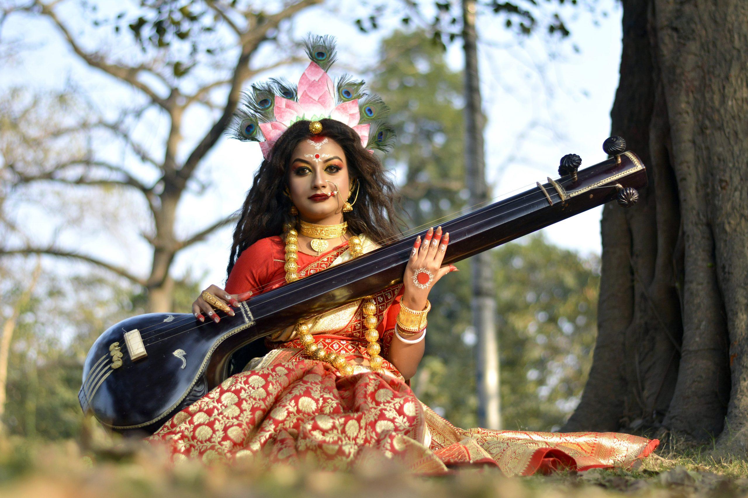 Goddess Sarasvati with Veena