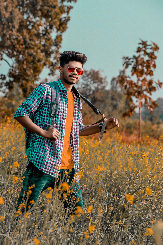 A boy in a field