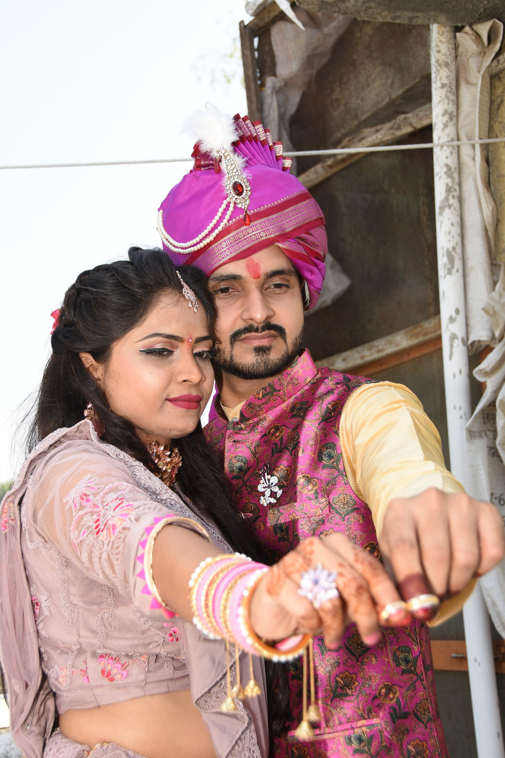 Indian engagement couple