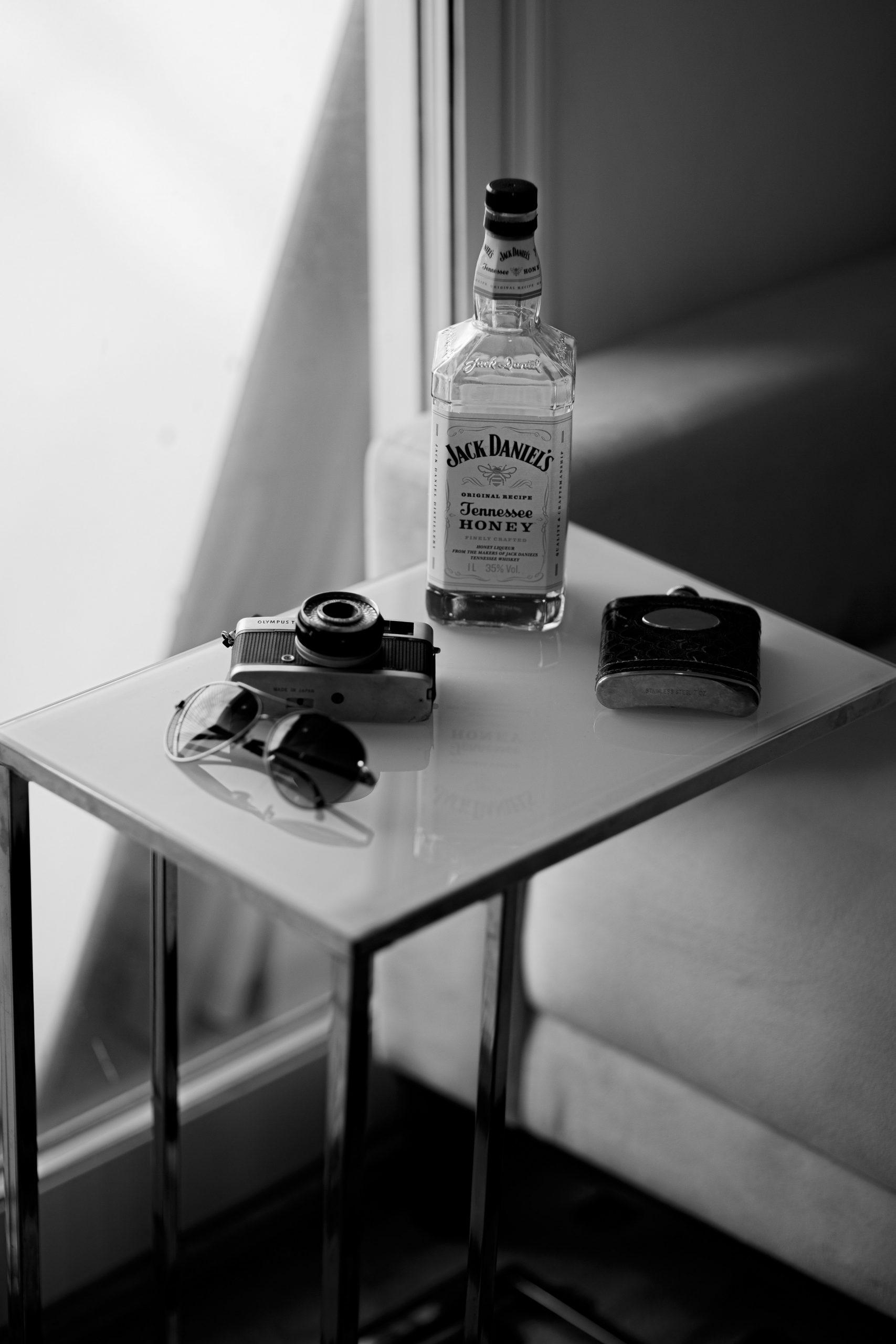 Jack Daniels Alcohol bottle on table