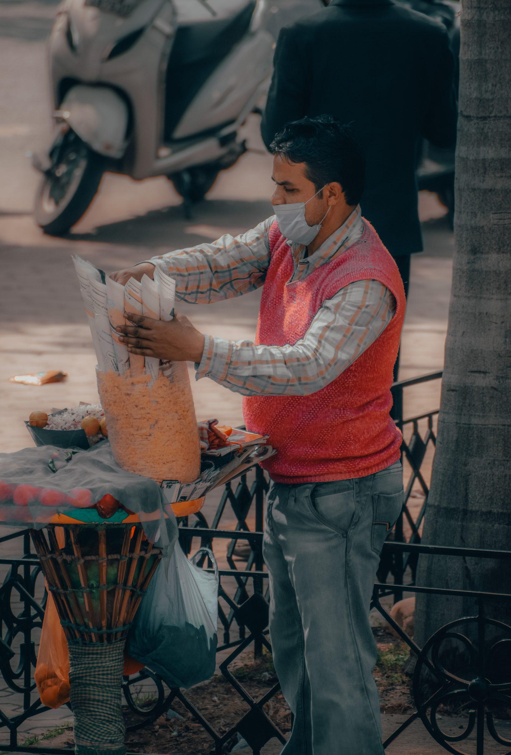 Man selling street food