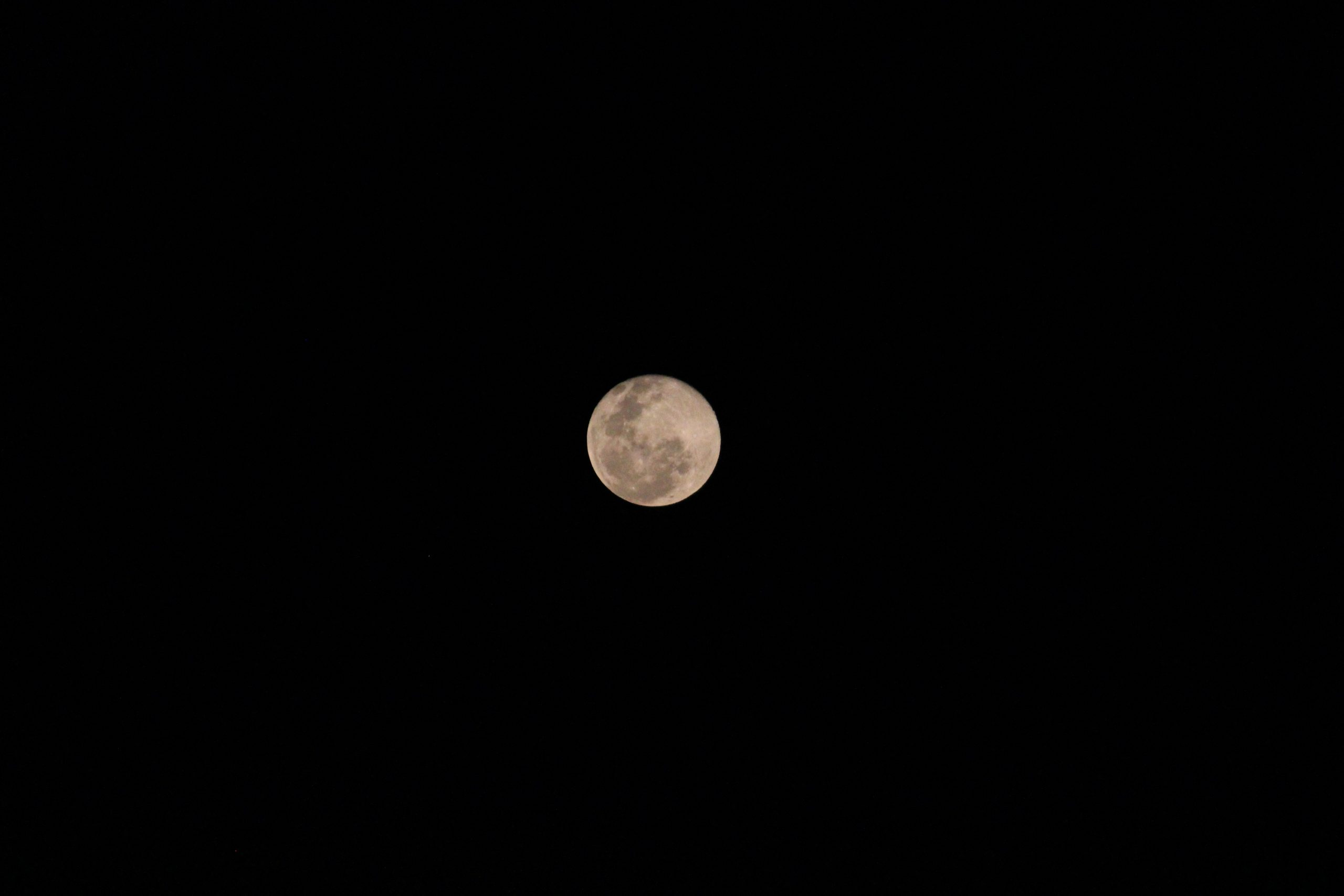 Beautiful moon in the night sky