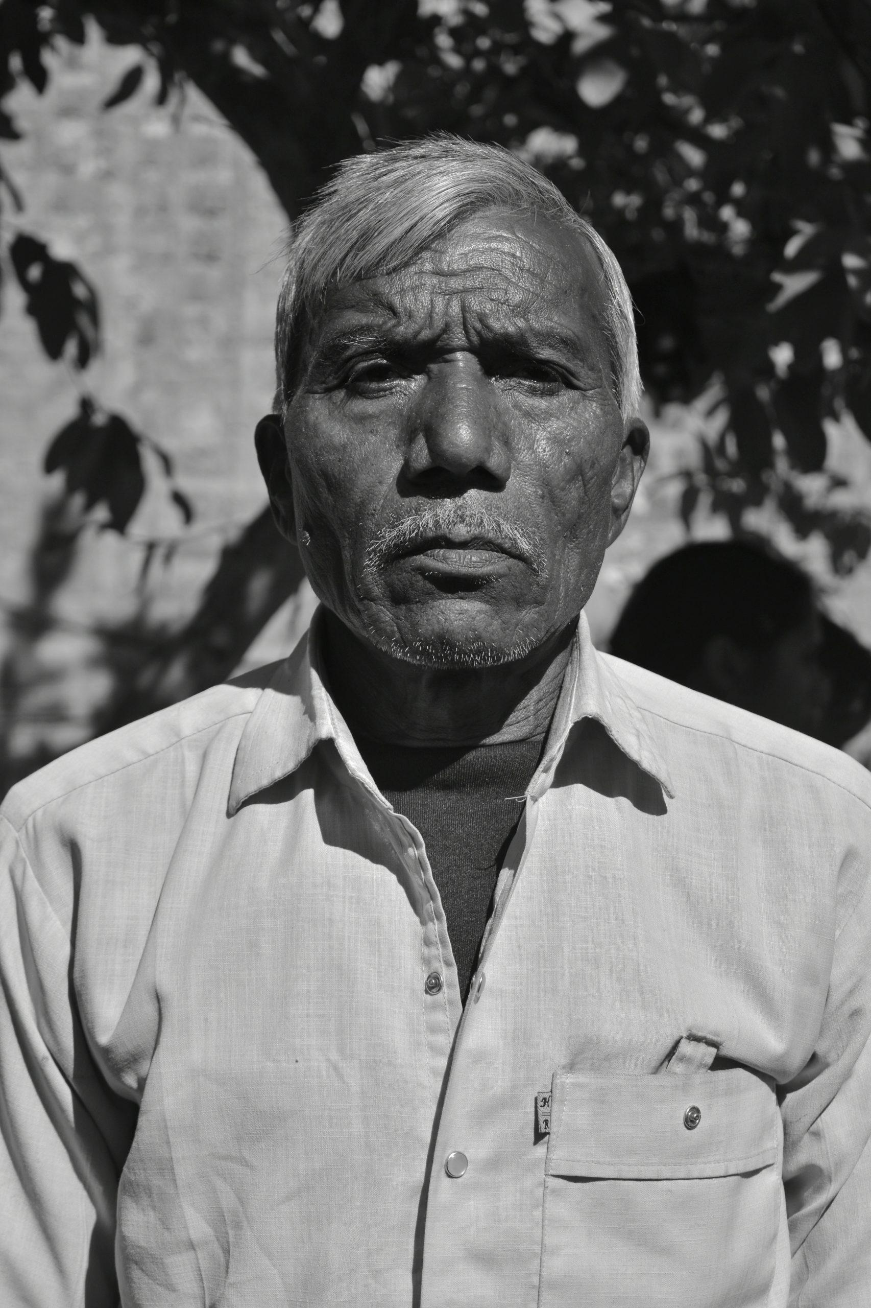 Old man posing