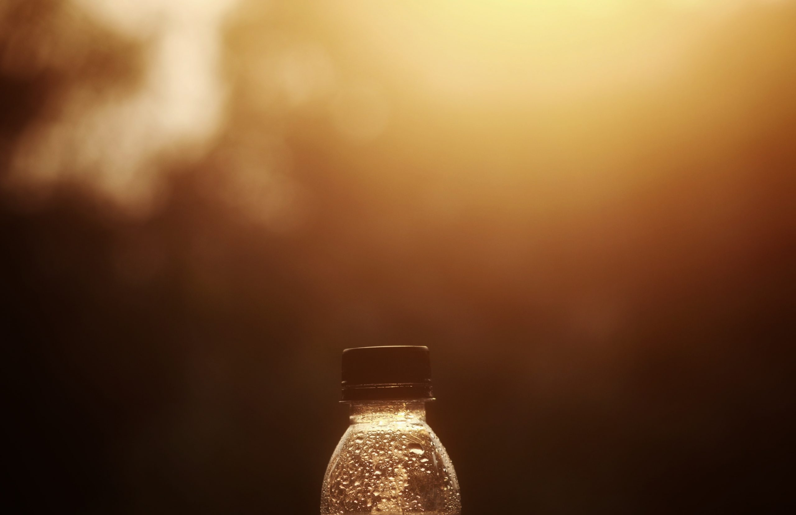 Drops on Plastic bottle