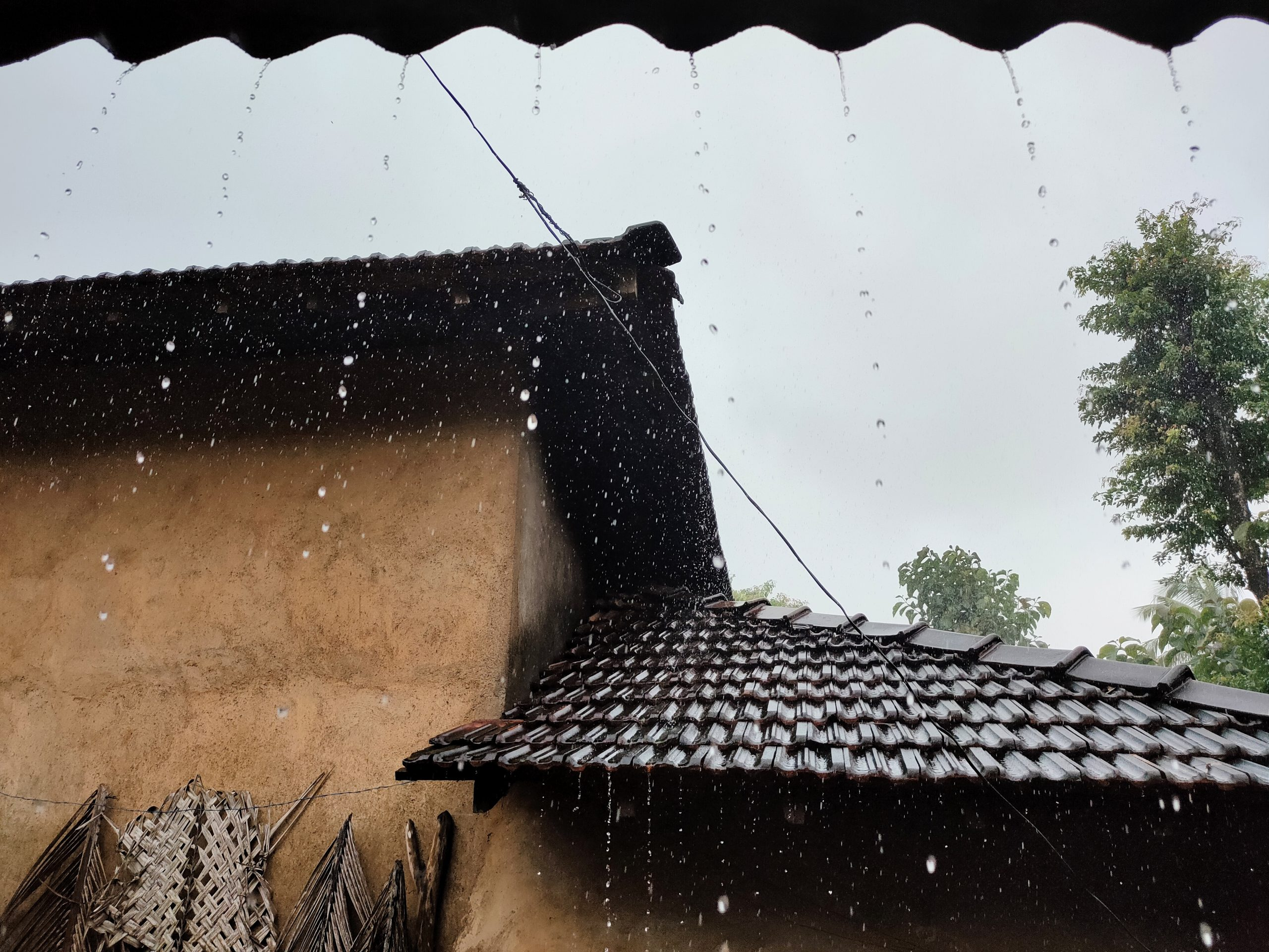 Rain in the village