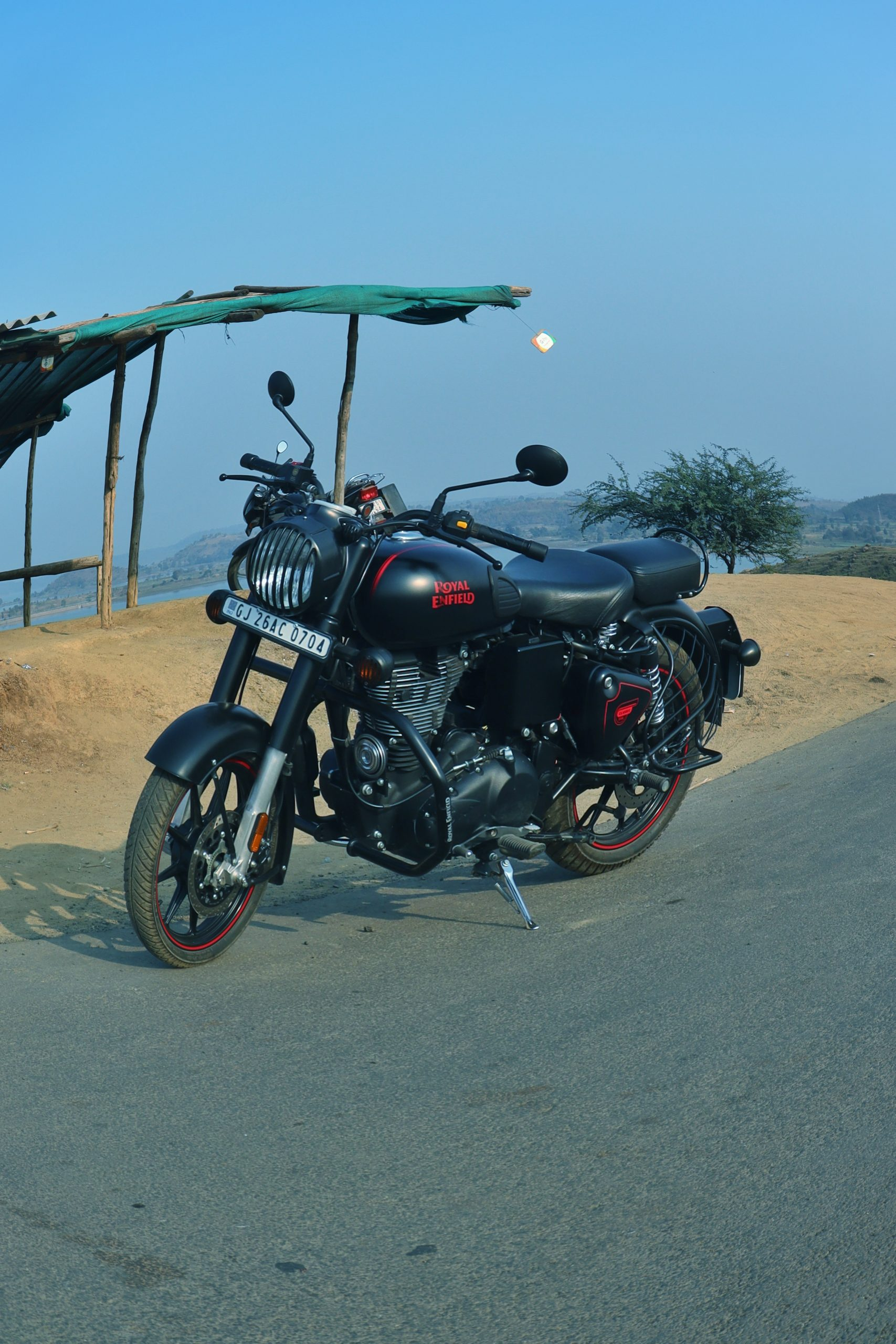 Royal Enfield on the road