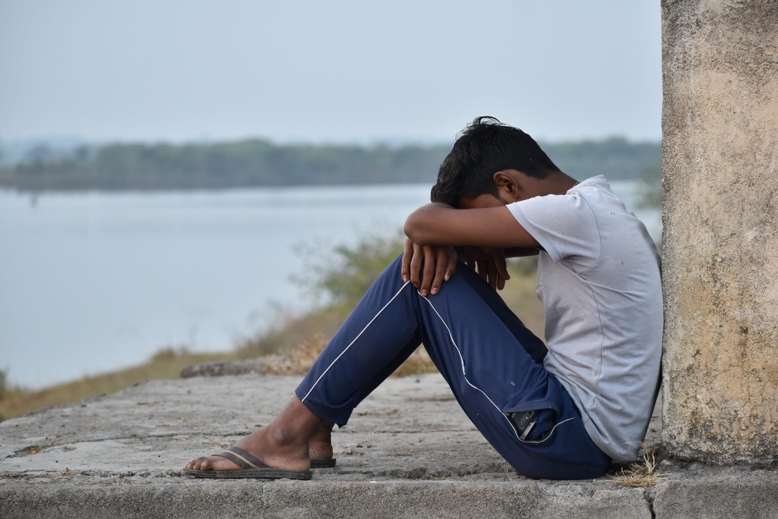 A sad boy