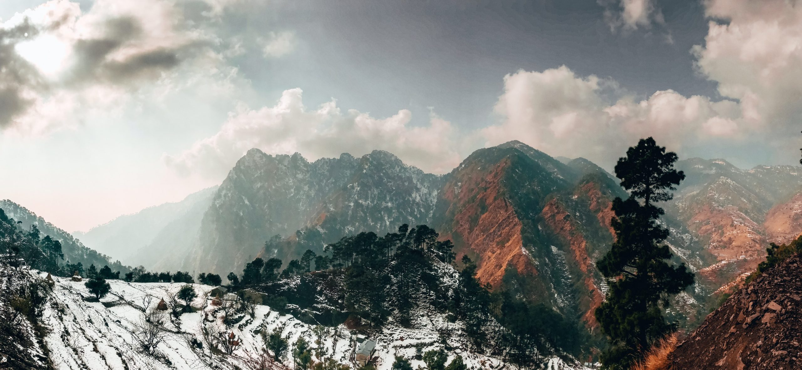 Scenery view of mountains