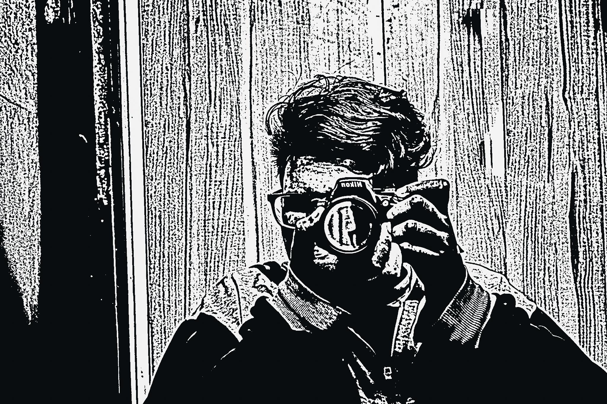 Monochrome self portrait of a guy