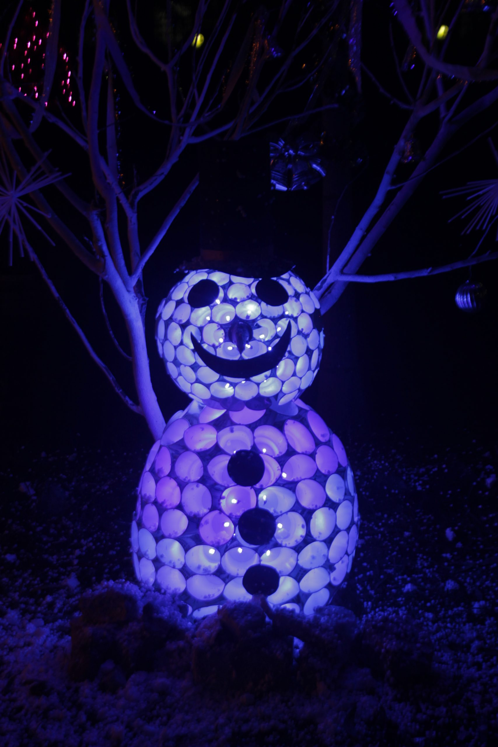 Snowman with lighting