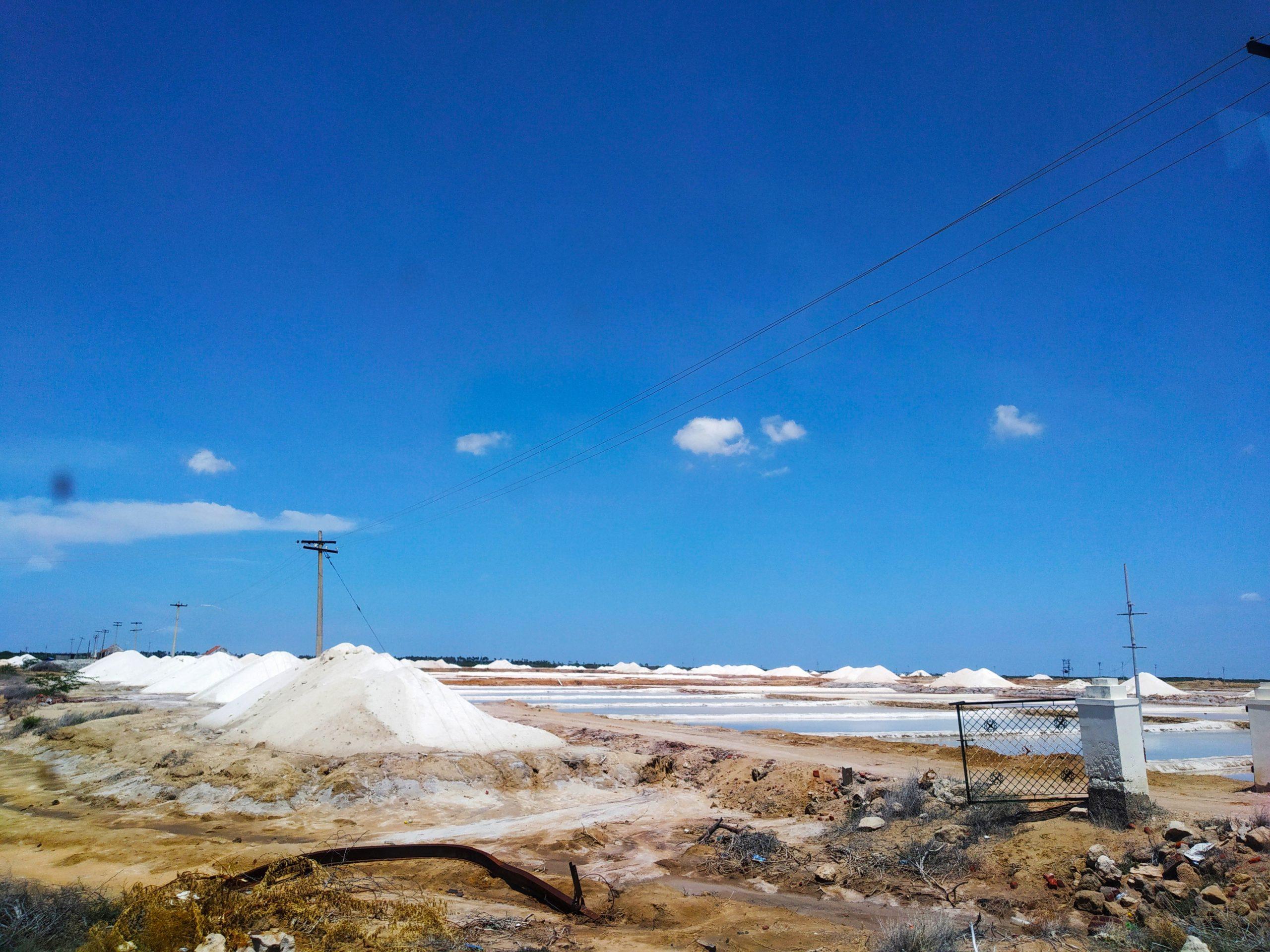 Solar Salt evaporation pond