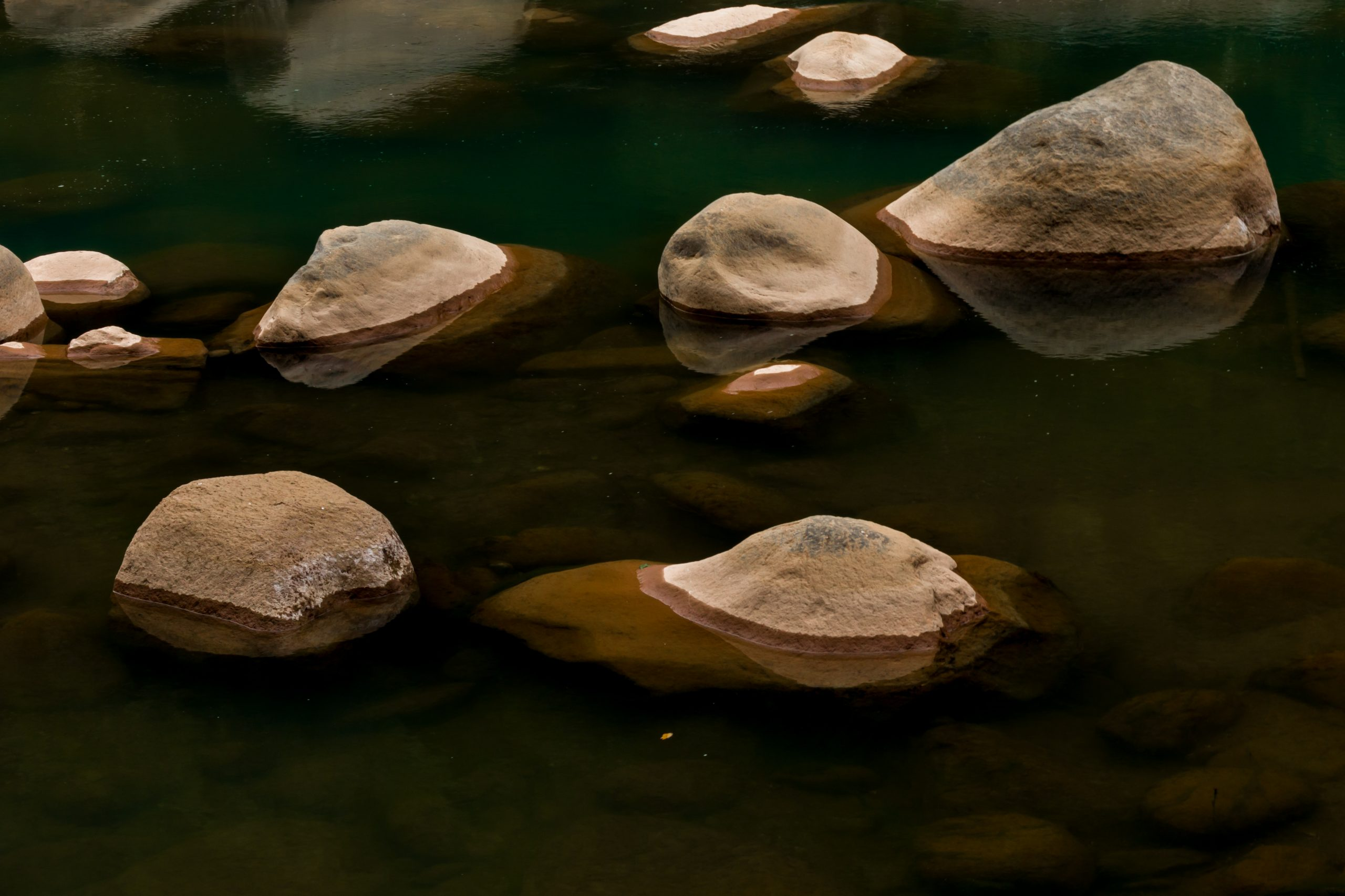 Stones in the river