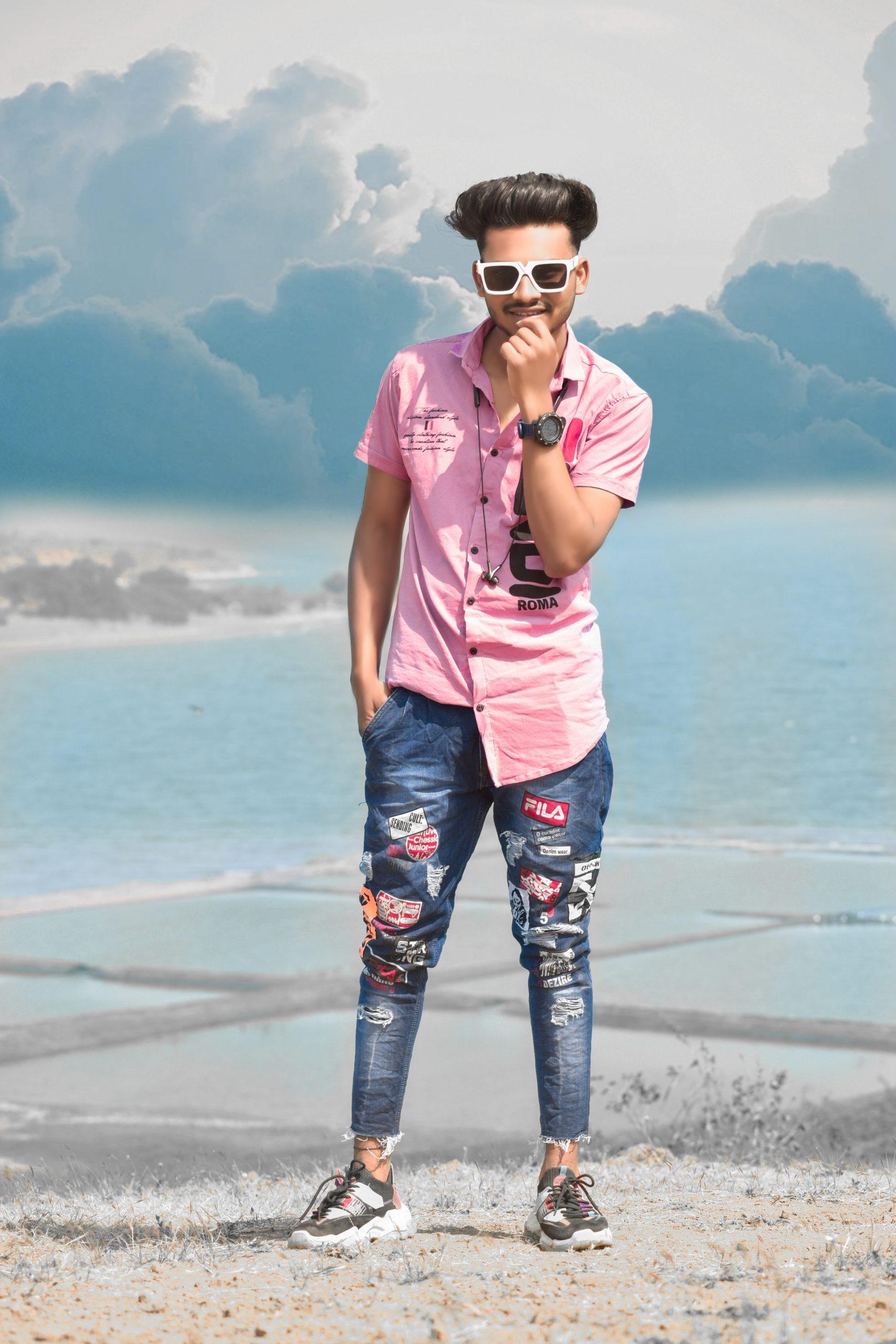 Stylish boy posing