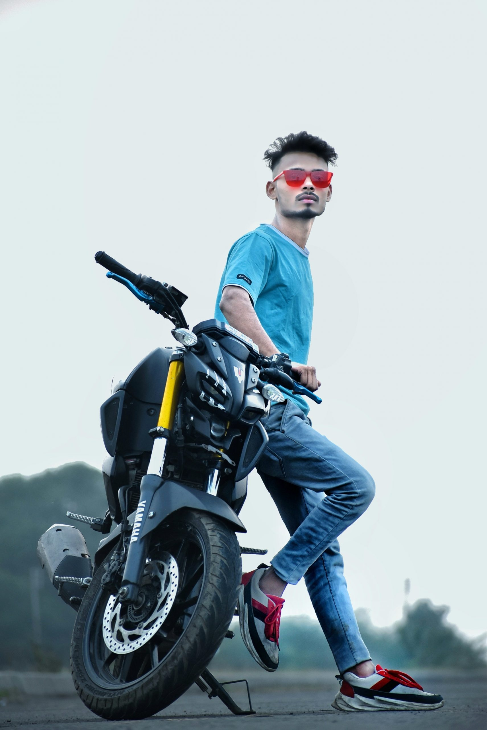 Boy with bike