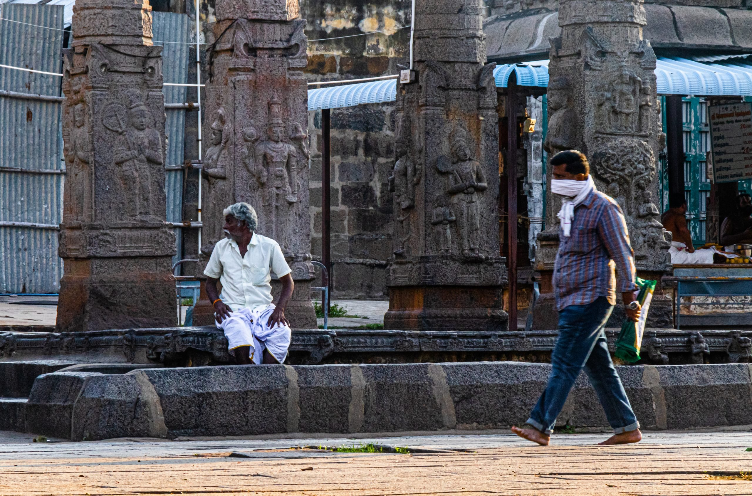 People outside the temple