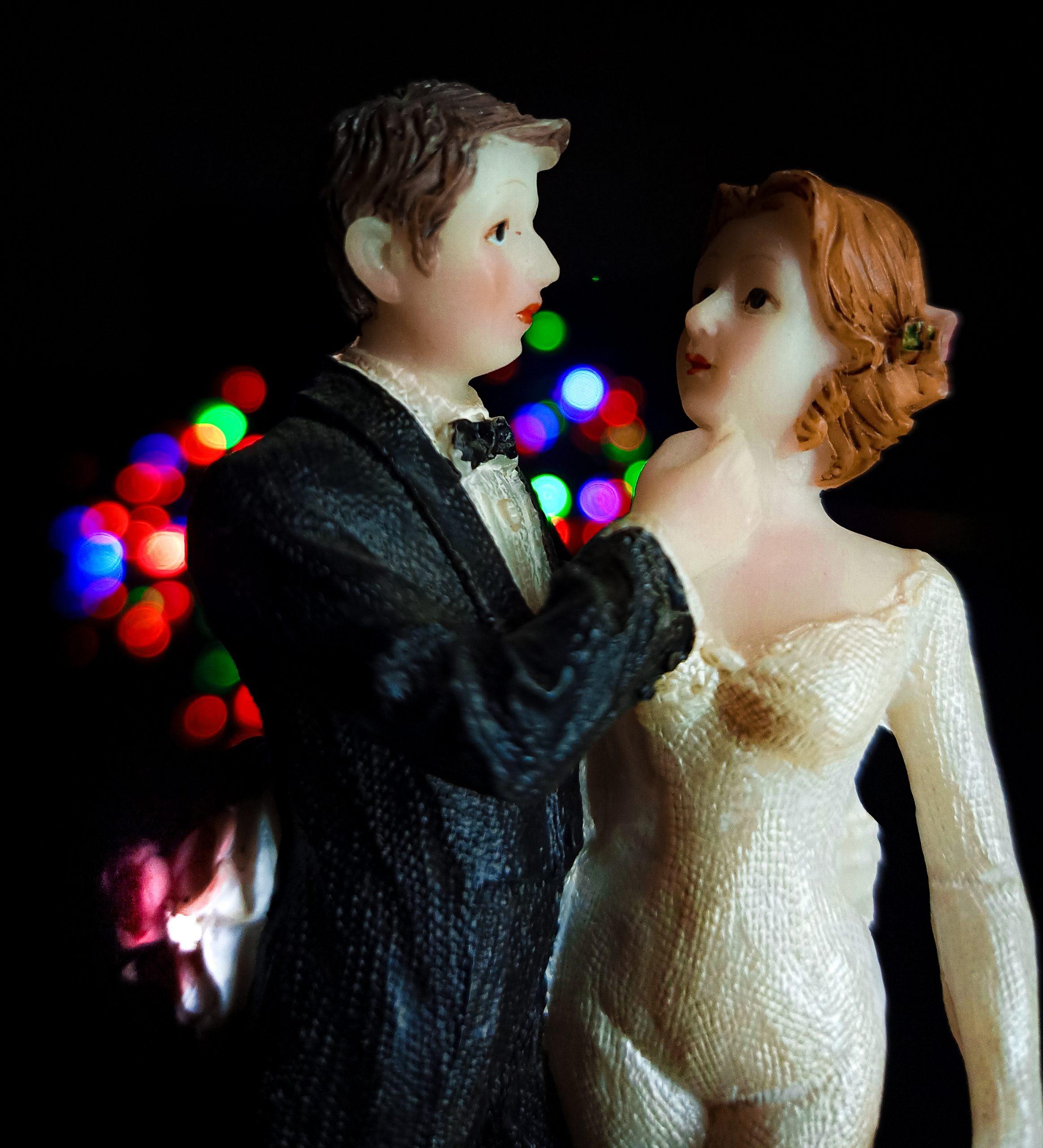 Toy couple portrait