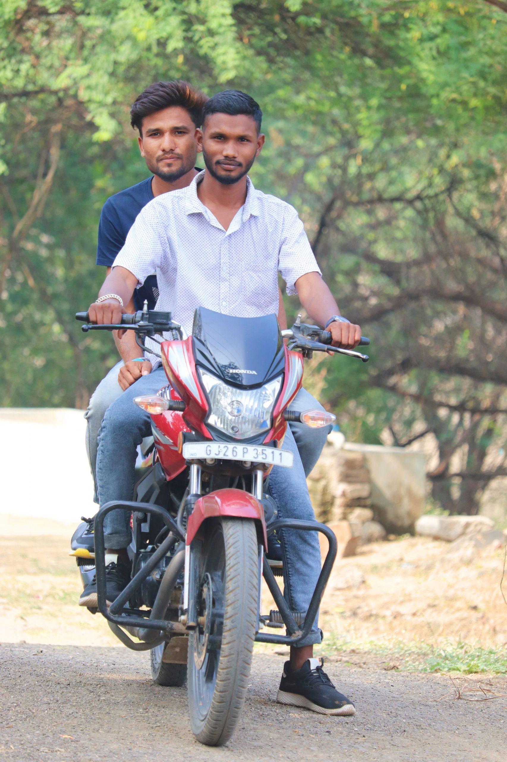 Two boys on bike