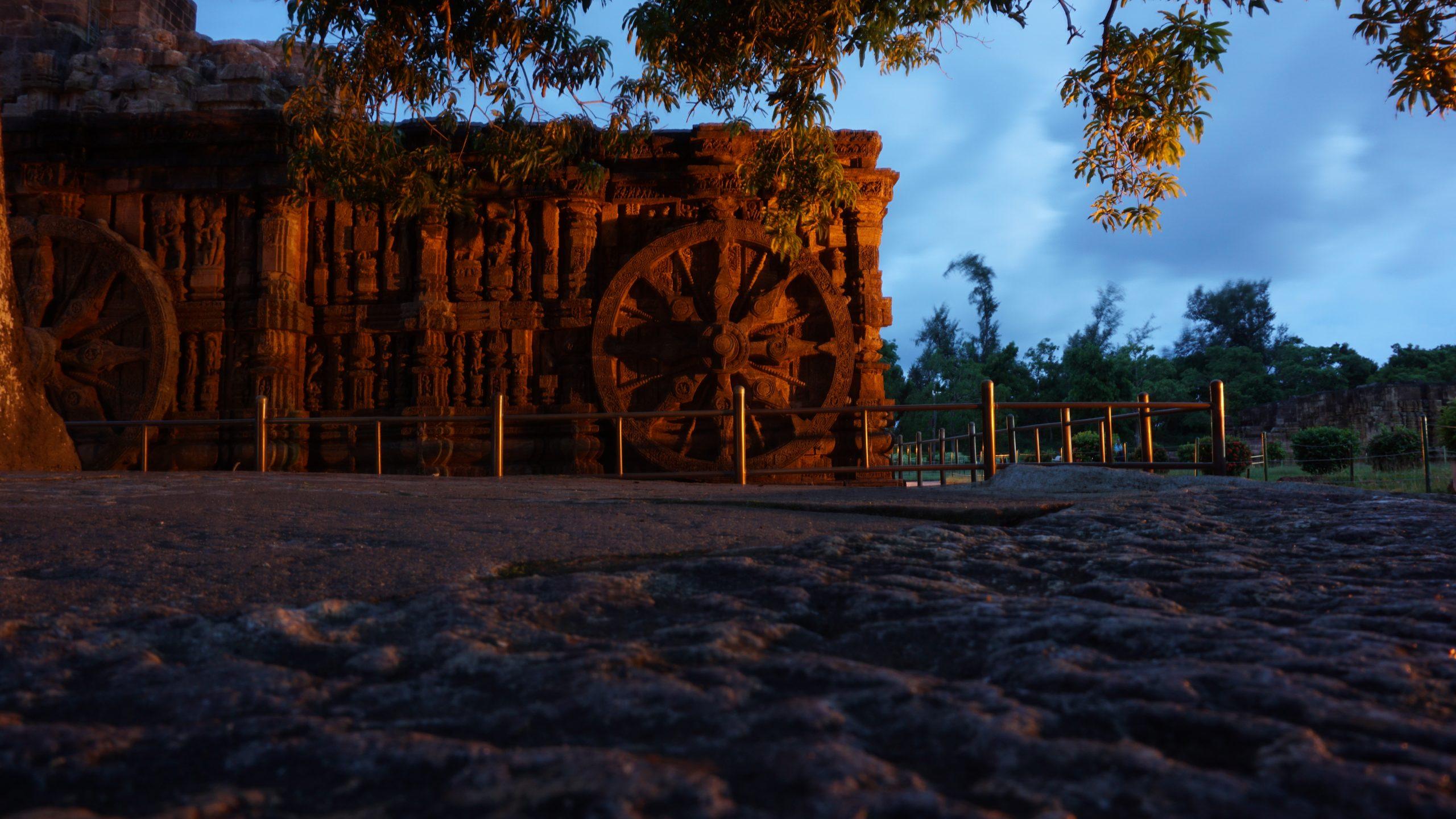 Wall of Konark Sun Temple in Odisha