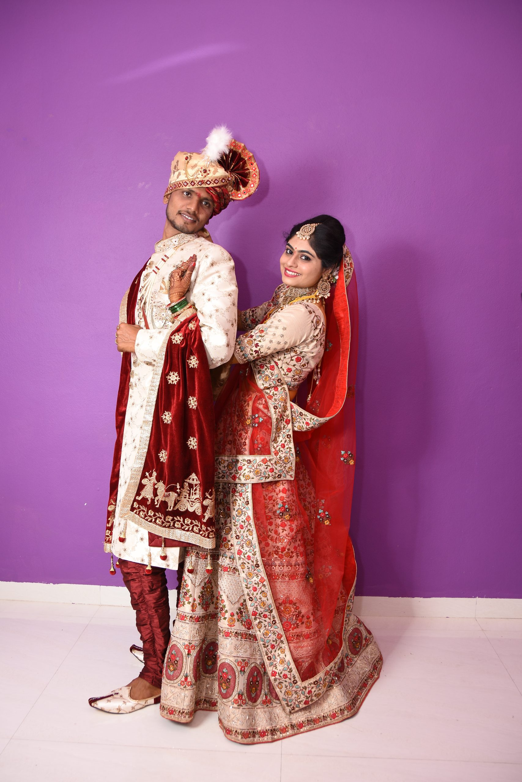 Wedding couples posing