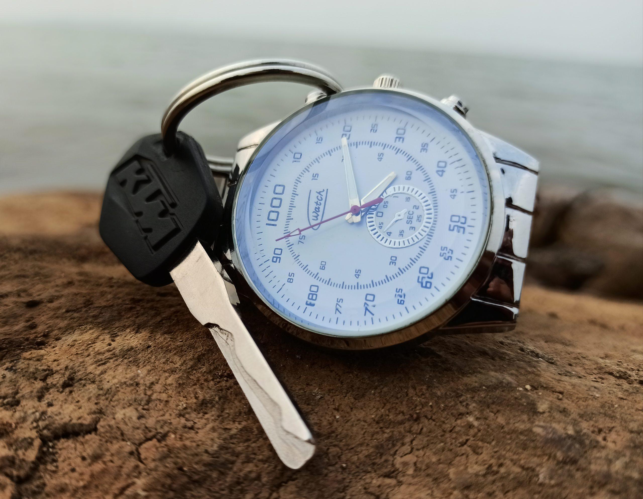 Wrist watch and KTM bike key