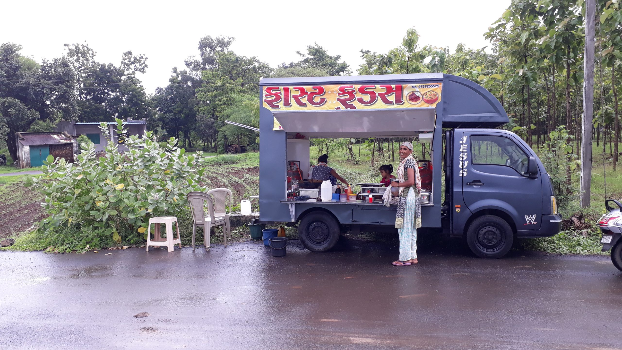 food truck on road