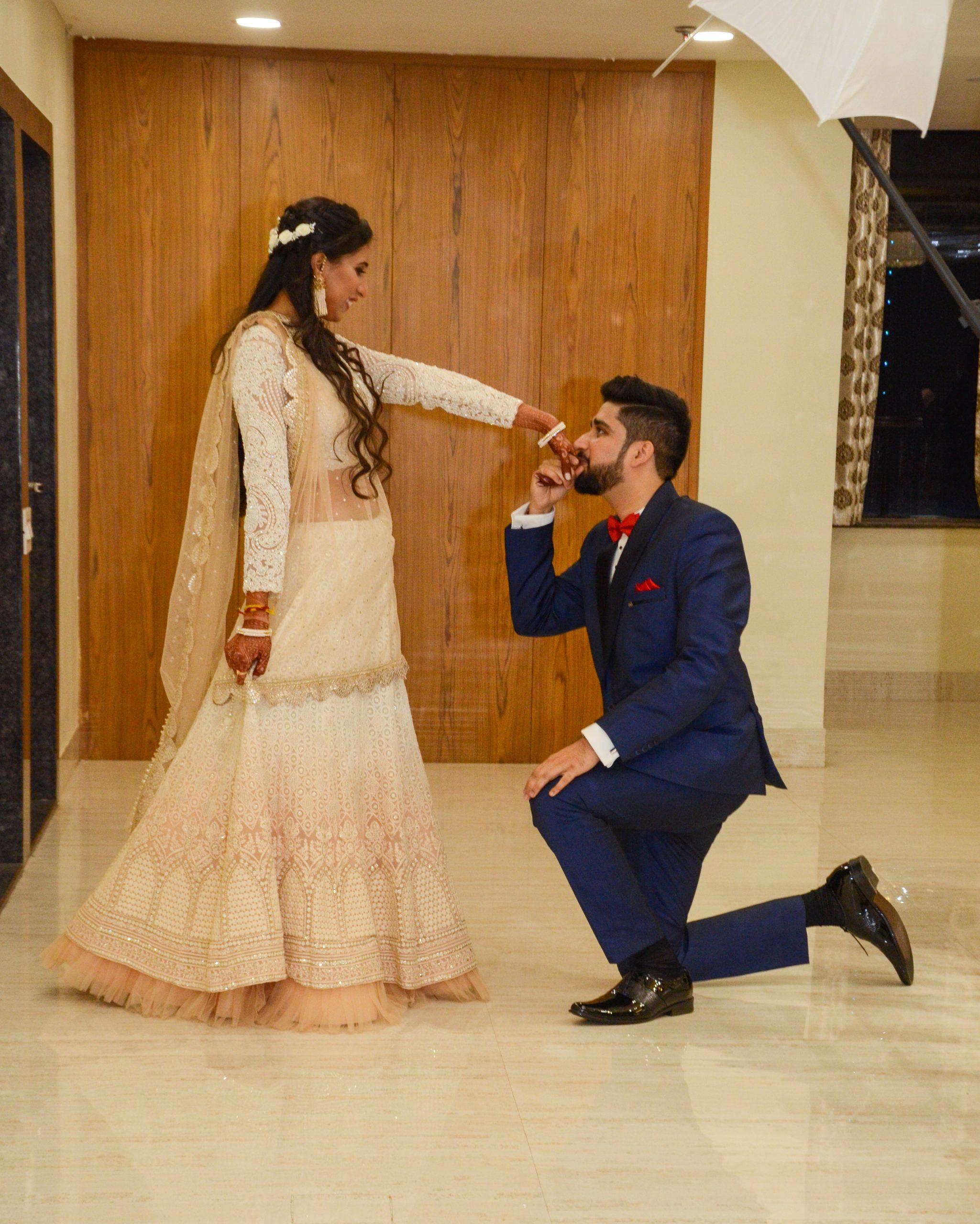 A bridegroom and bride