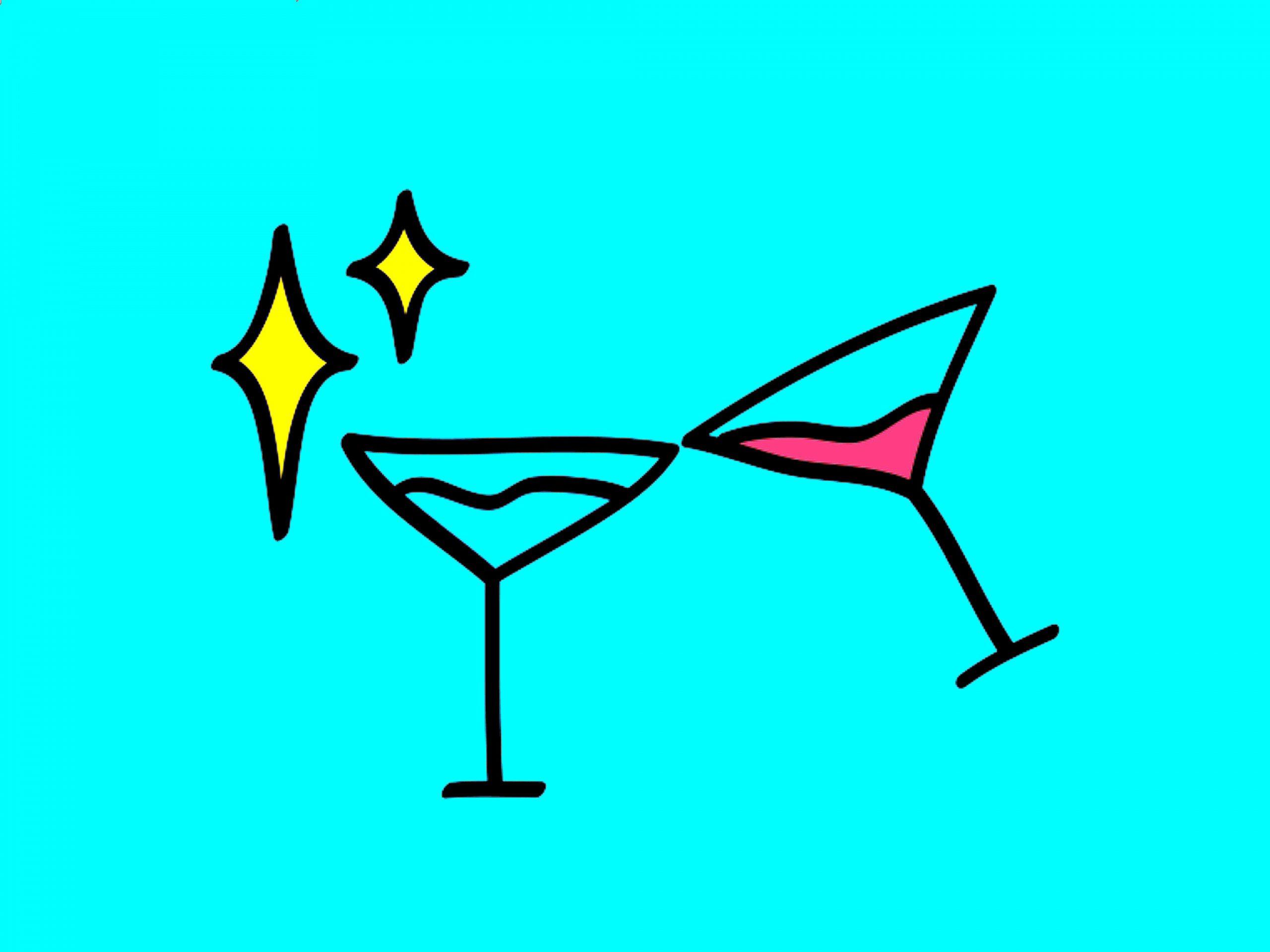 Illustration of juice glasses