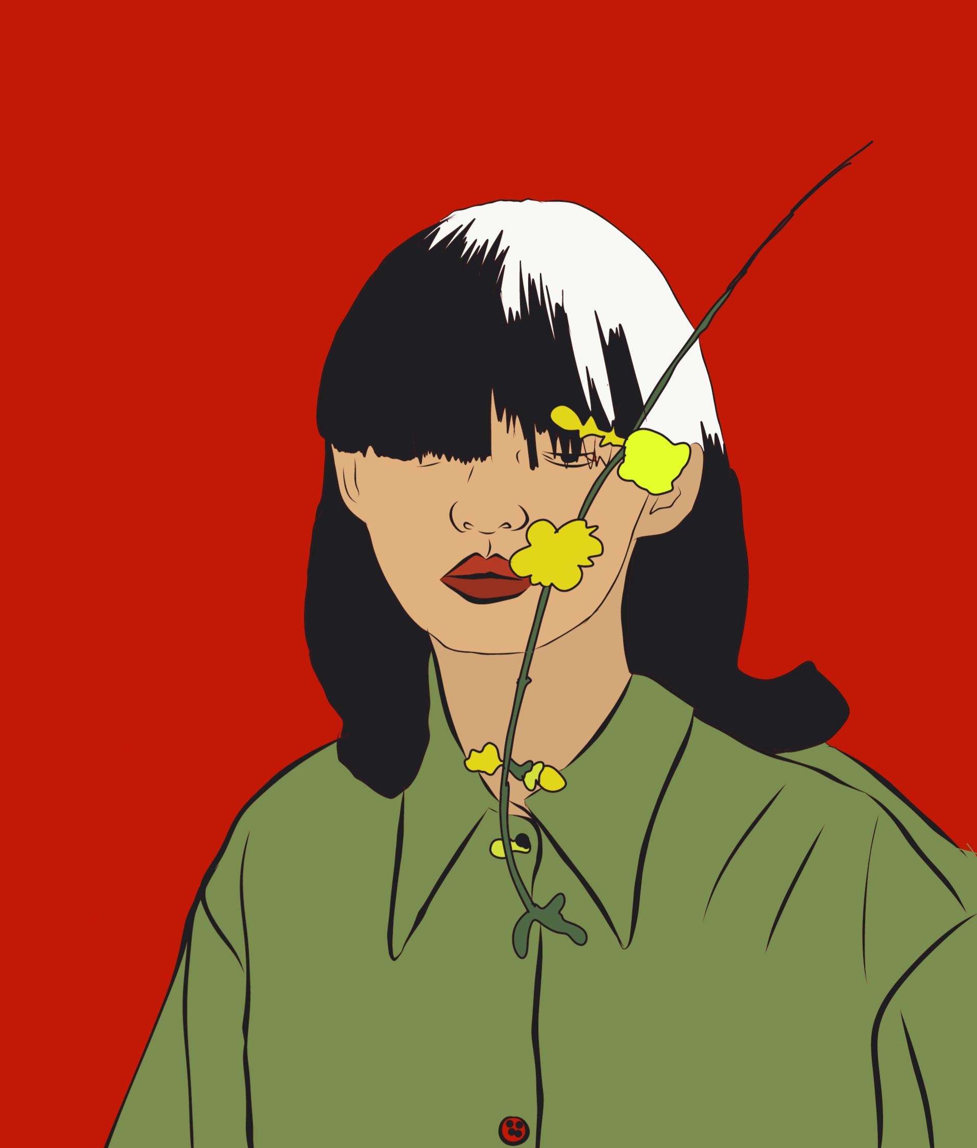 Creative portrait of a girl