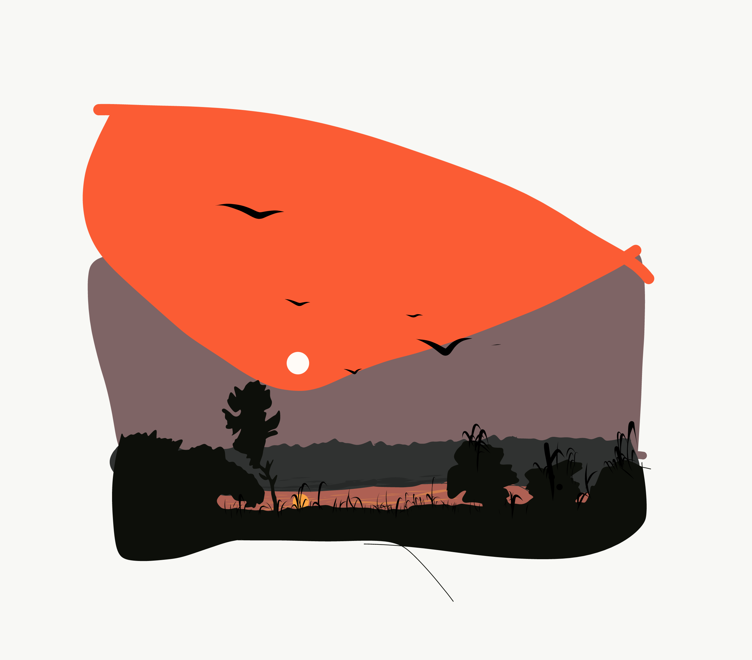 Sunrise illustration