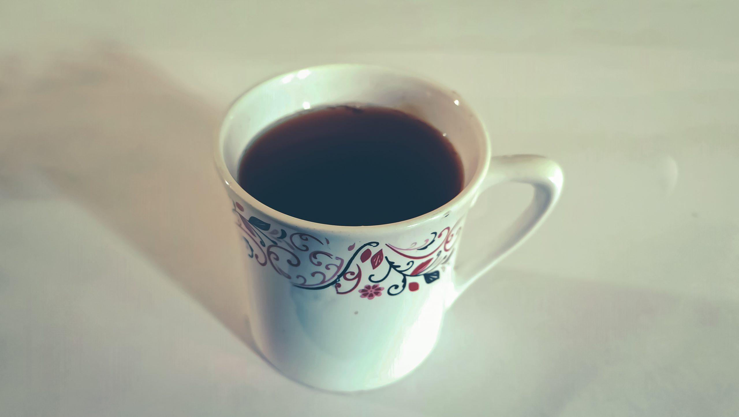 A black tea cup