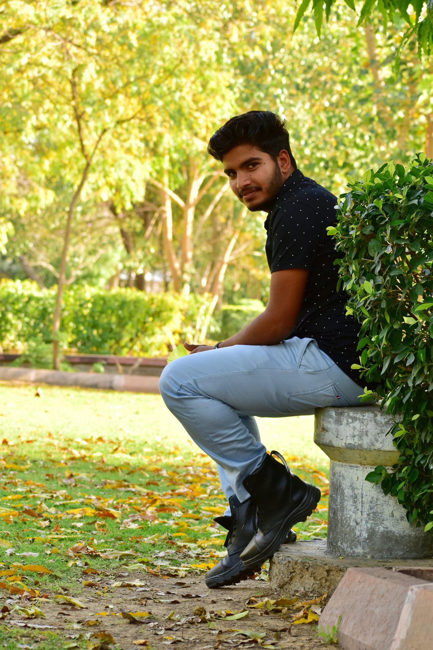 A boy in a park