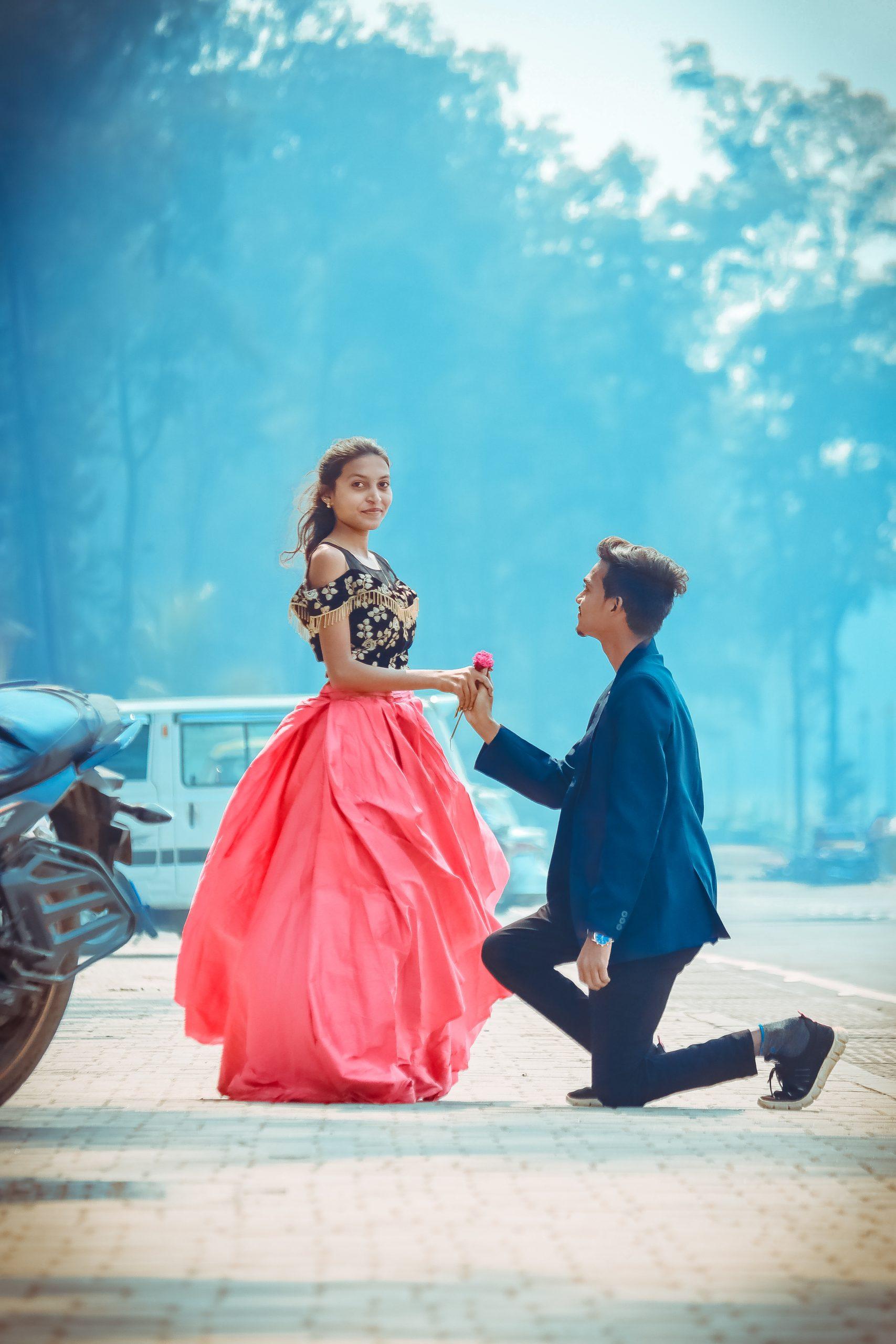 A boy proposing a girl
