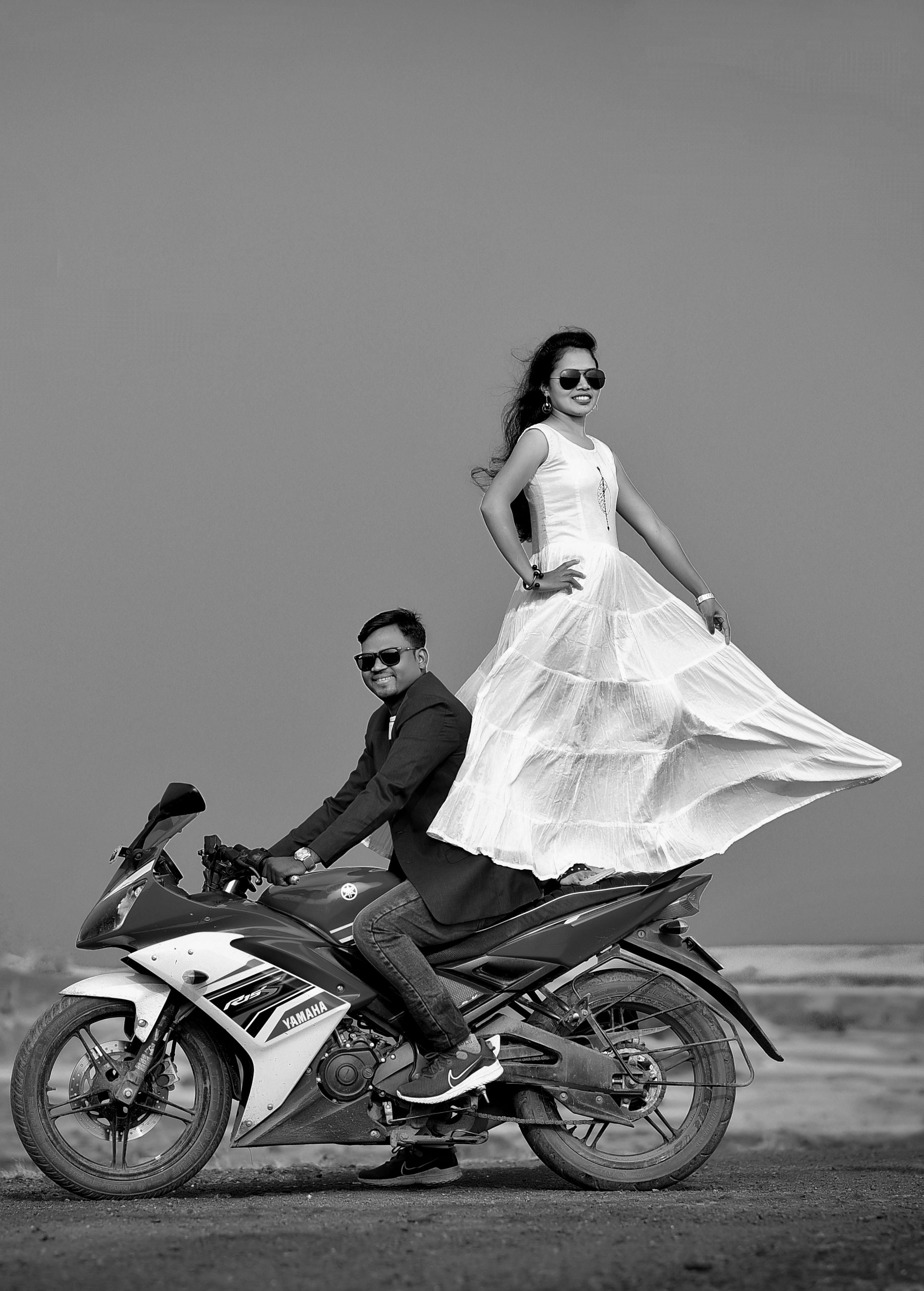 Indian couple in a photoshoot