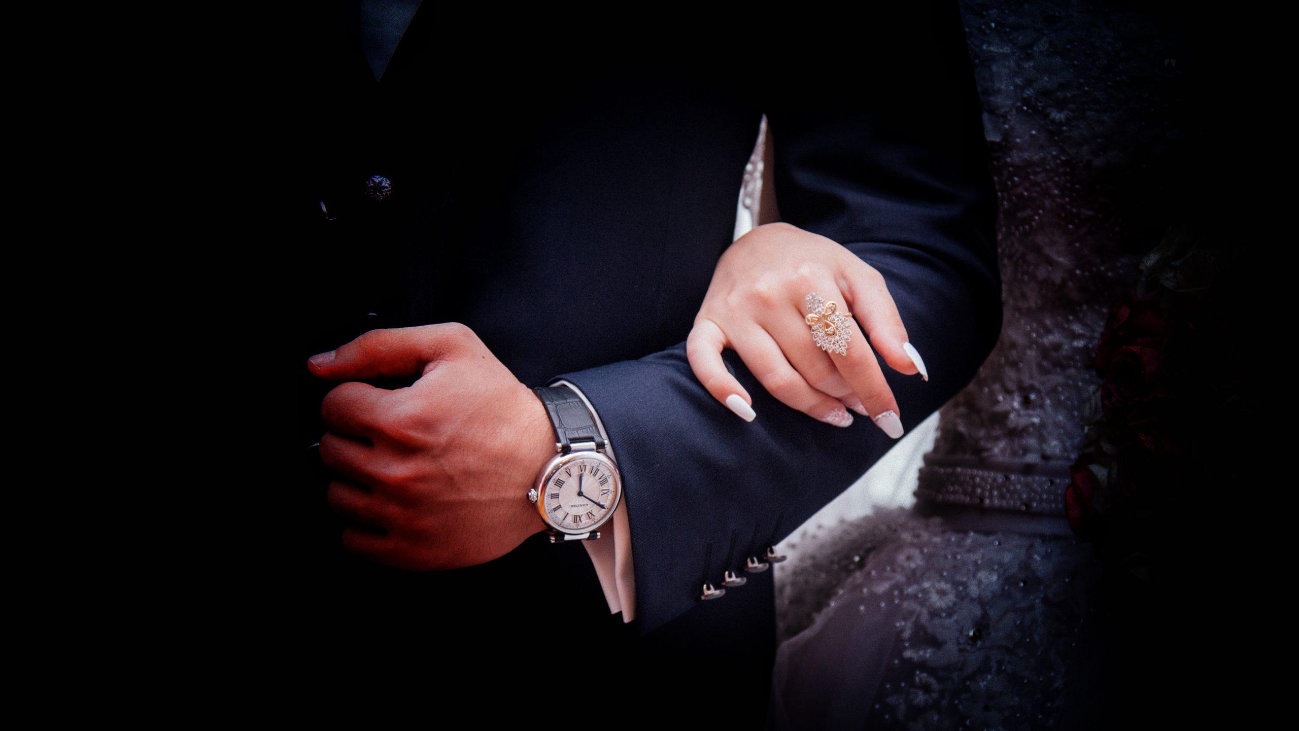 A couple's hand