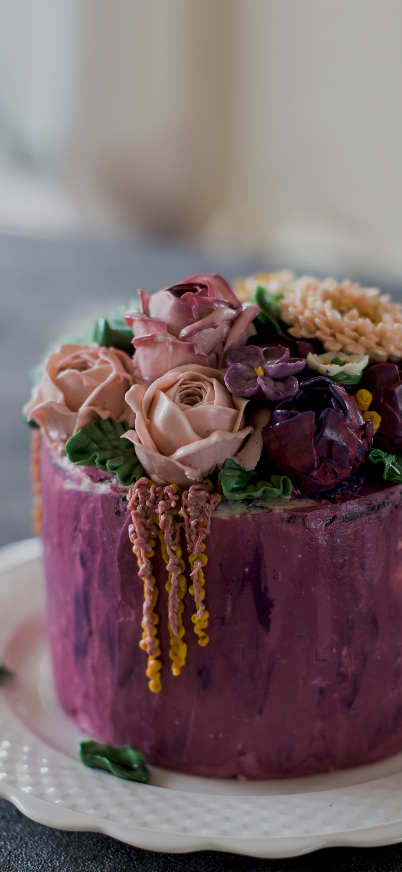 A flower cake