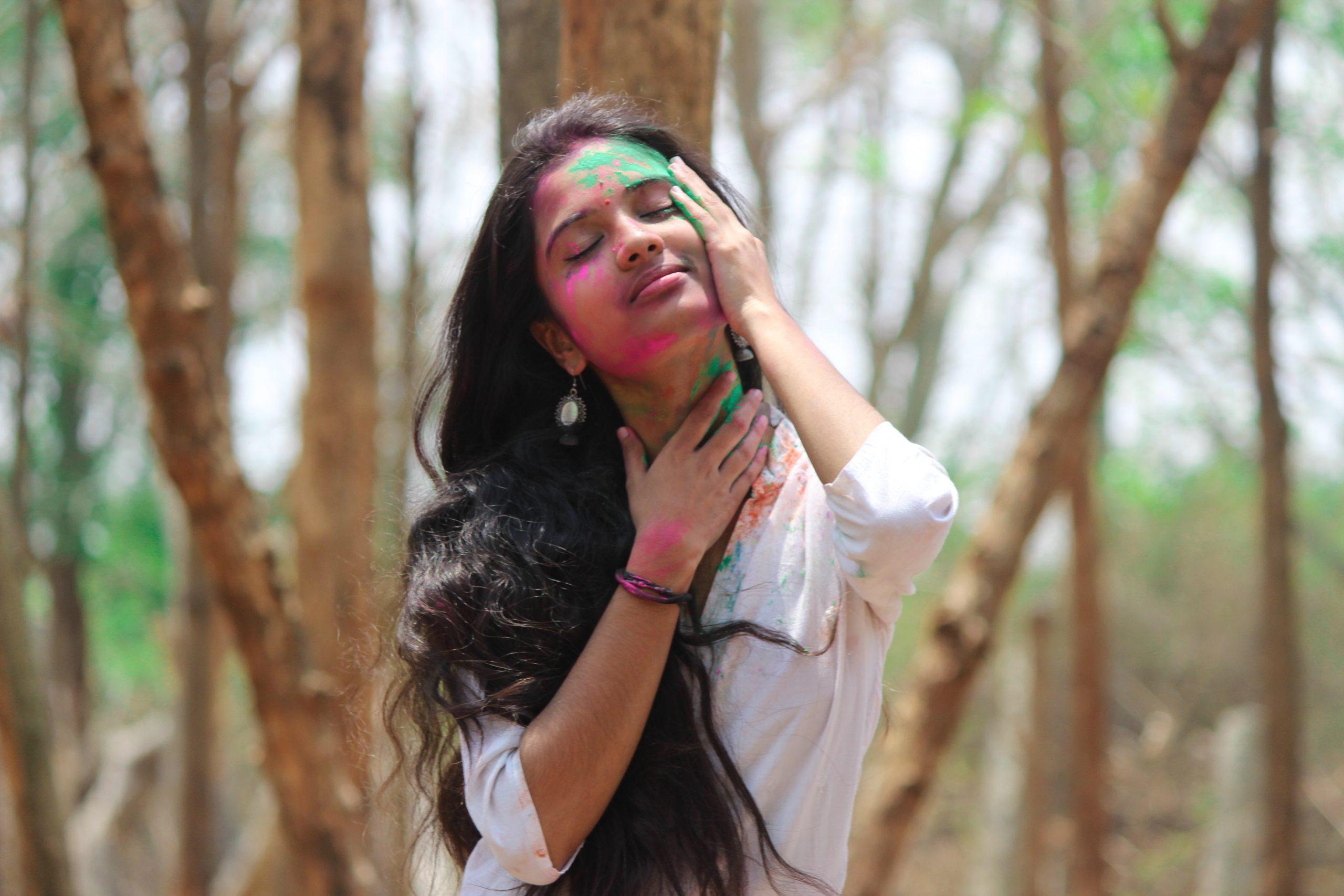 A girl in a jungle