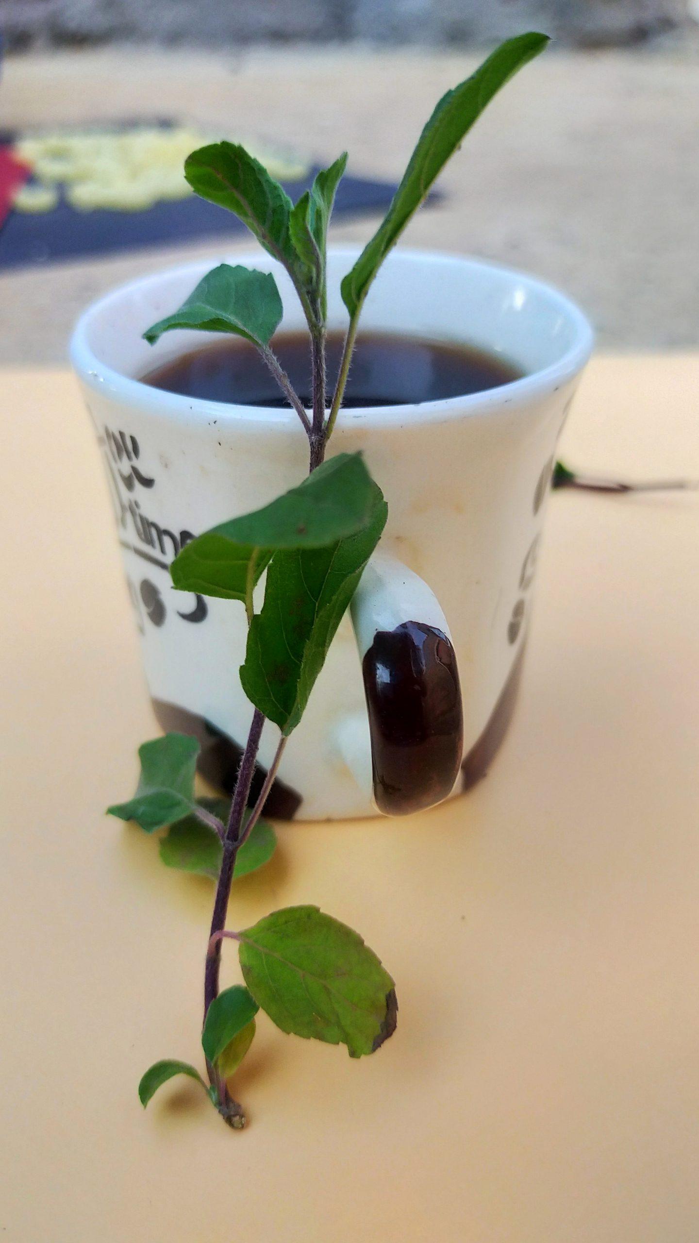 A herbal tea cup