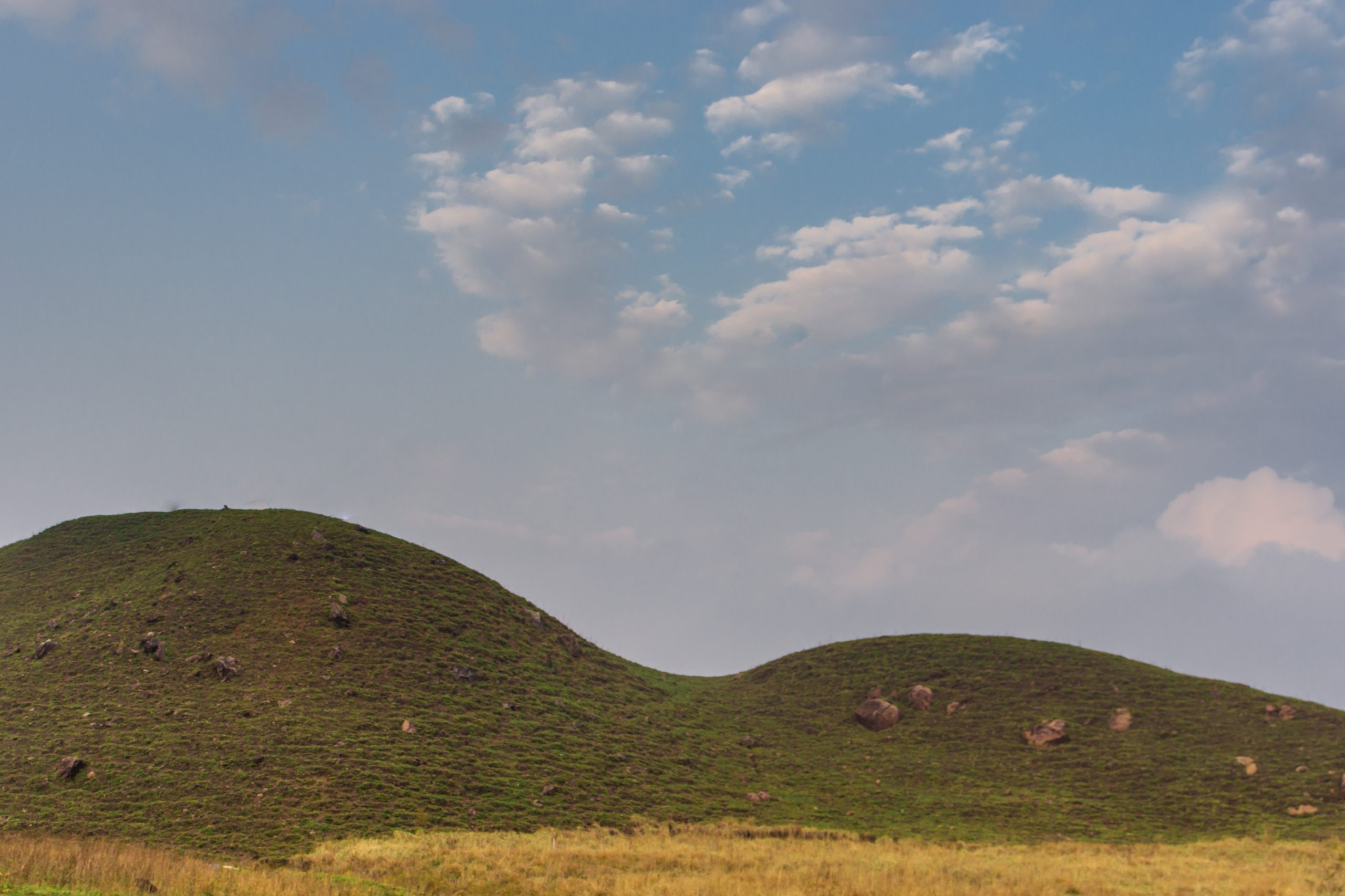 A hill and sky