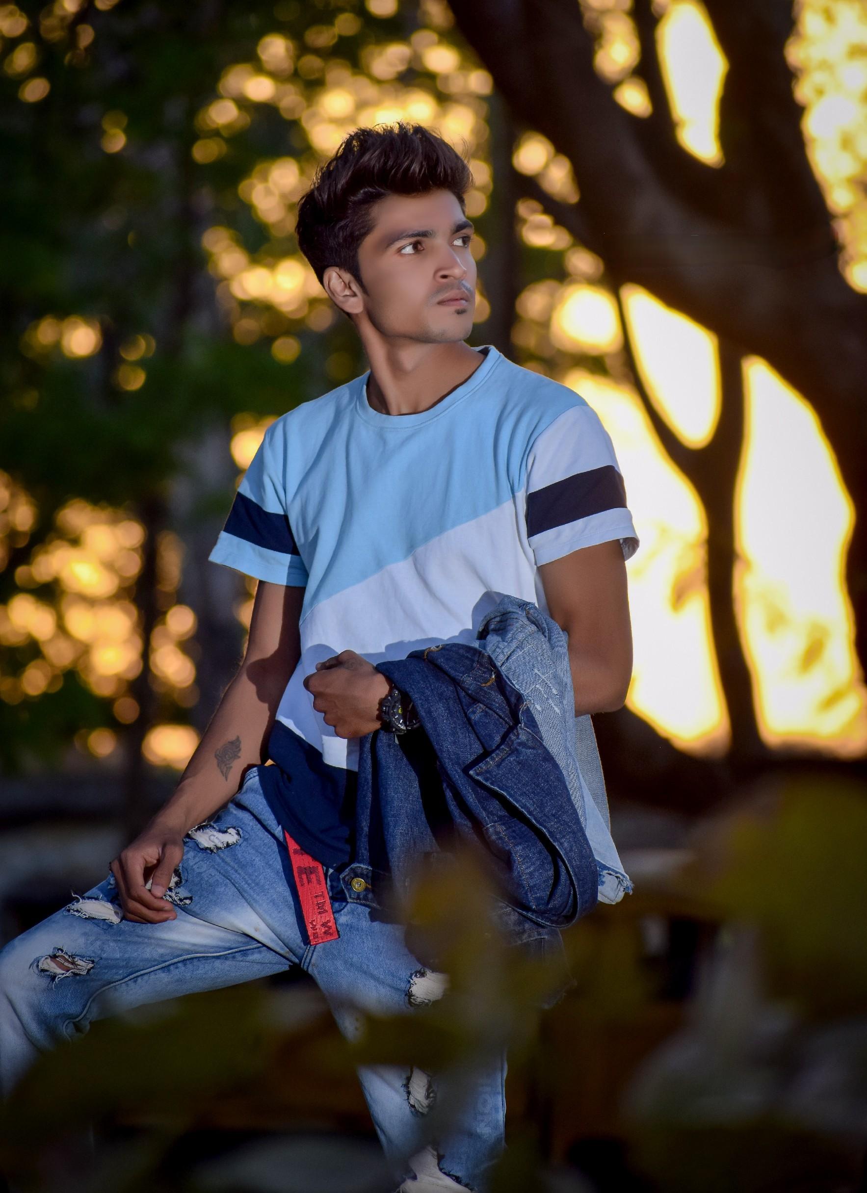 A male fashion model