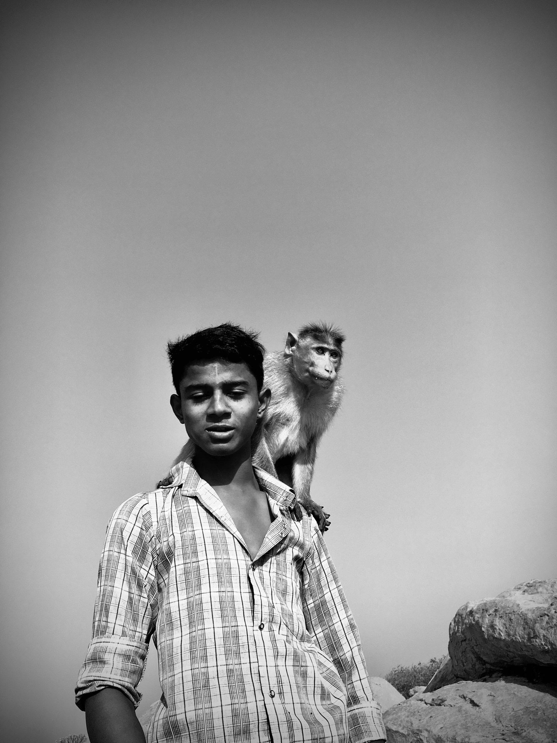 A monkey keeper