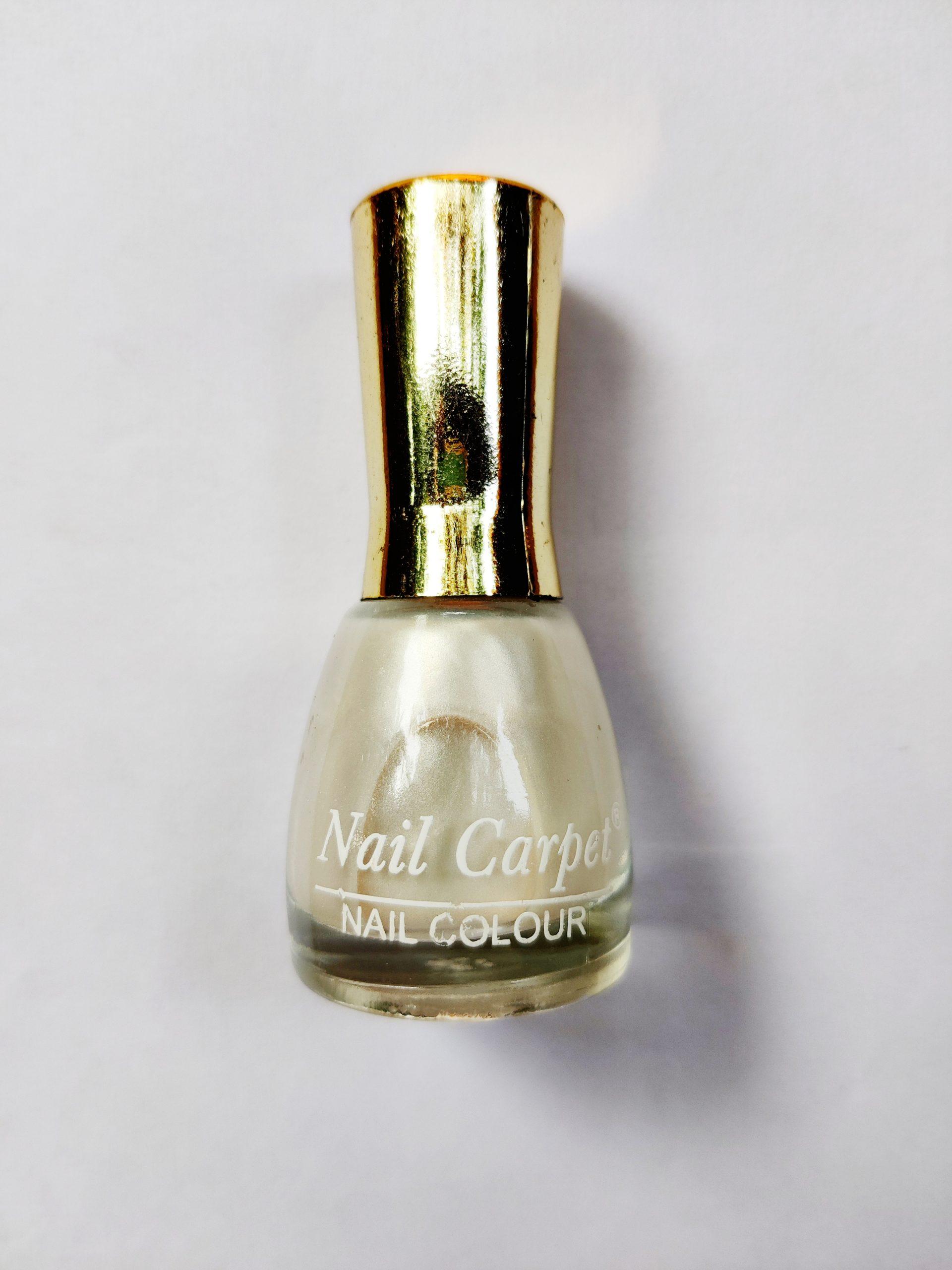 A nail paint bottle