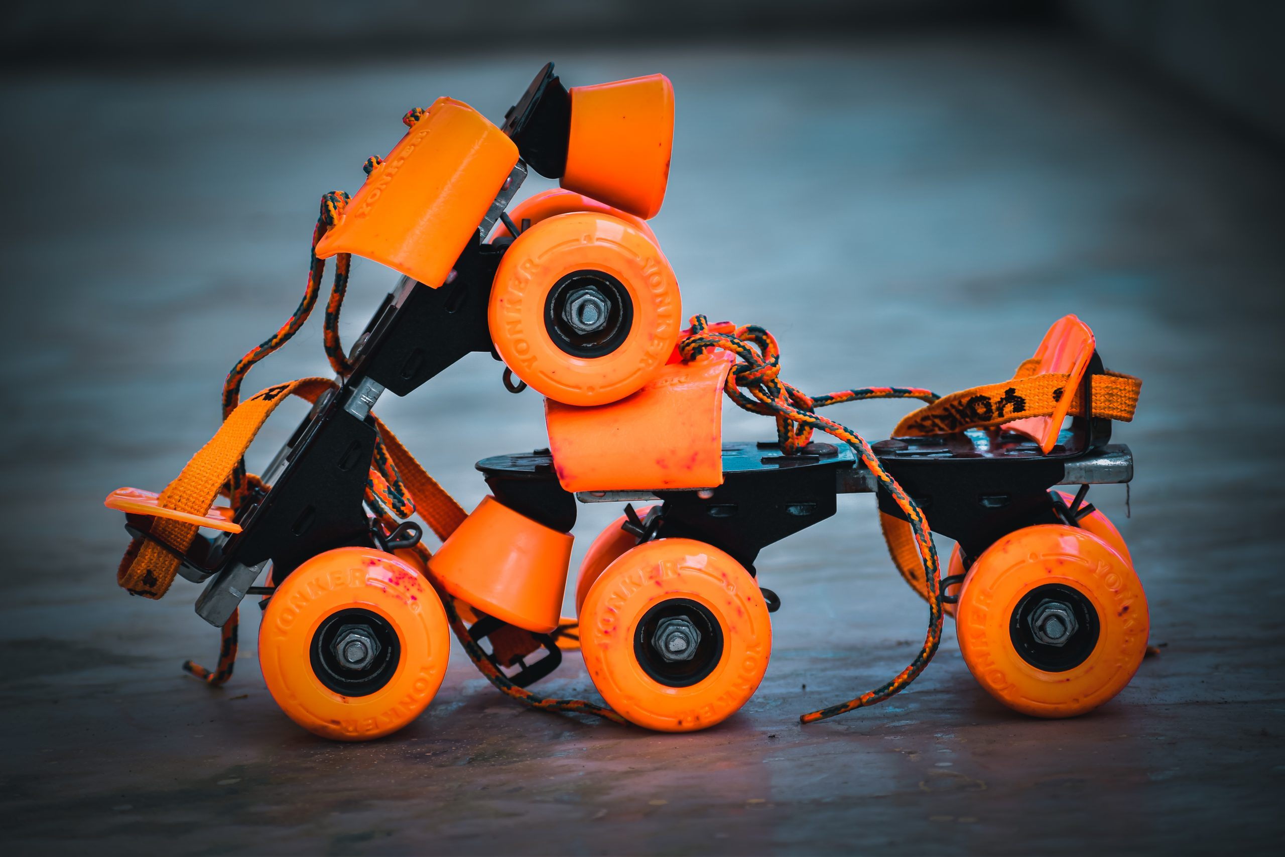 A pair of skate wheels