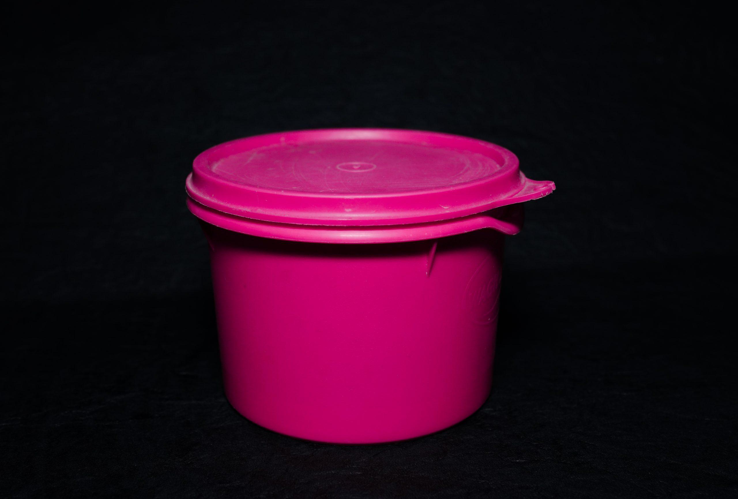 A pink box