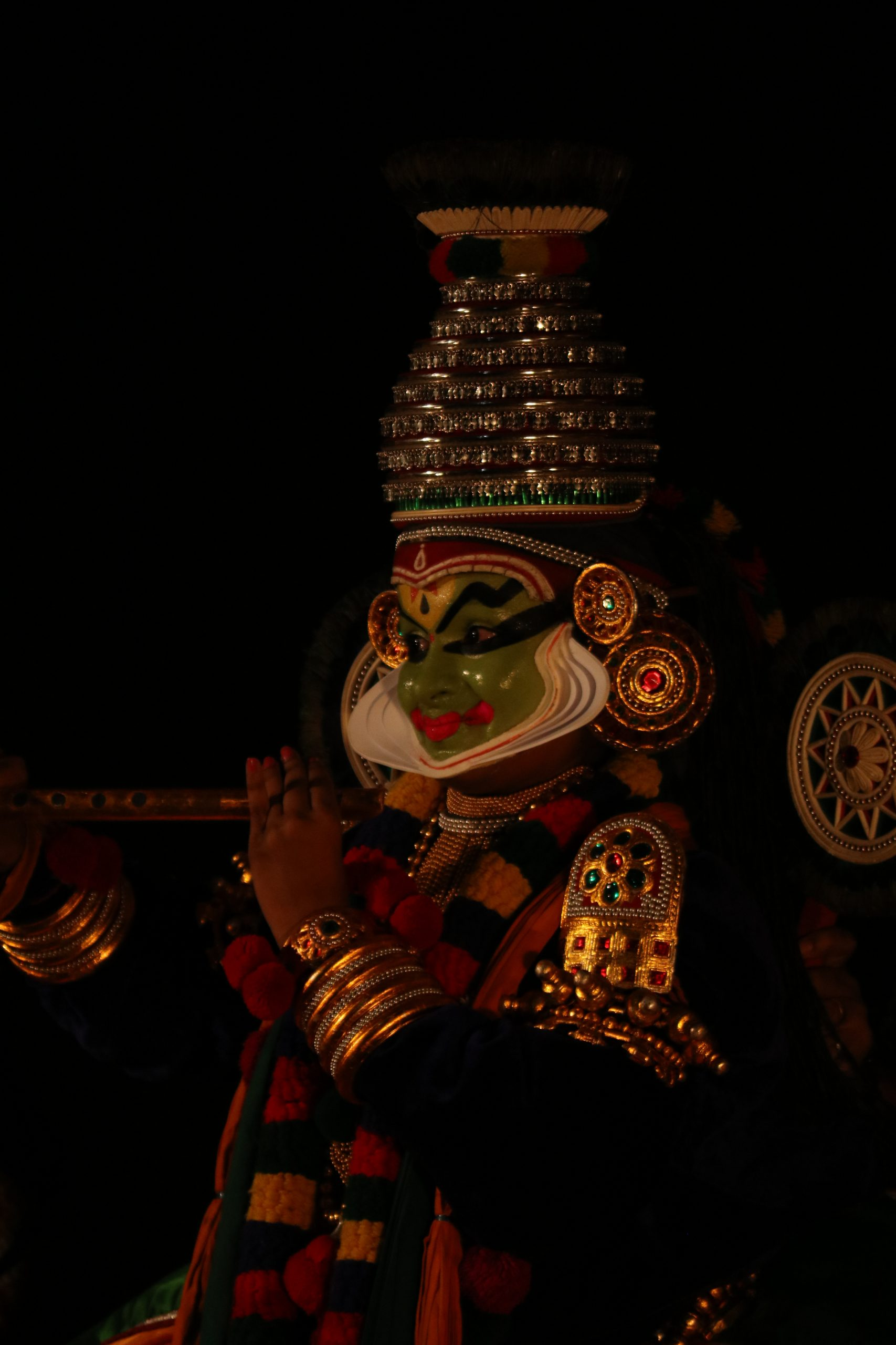 Portrait of a Kathakali dance artist