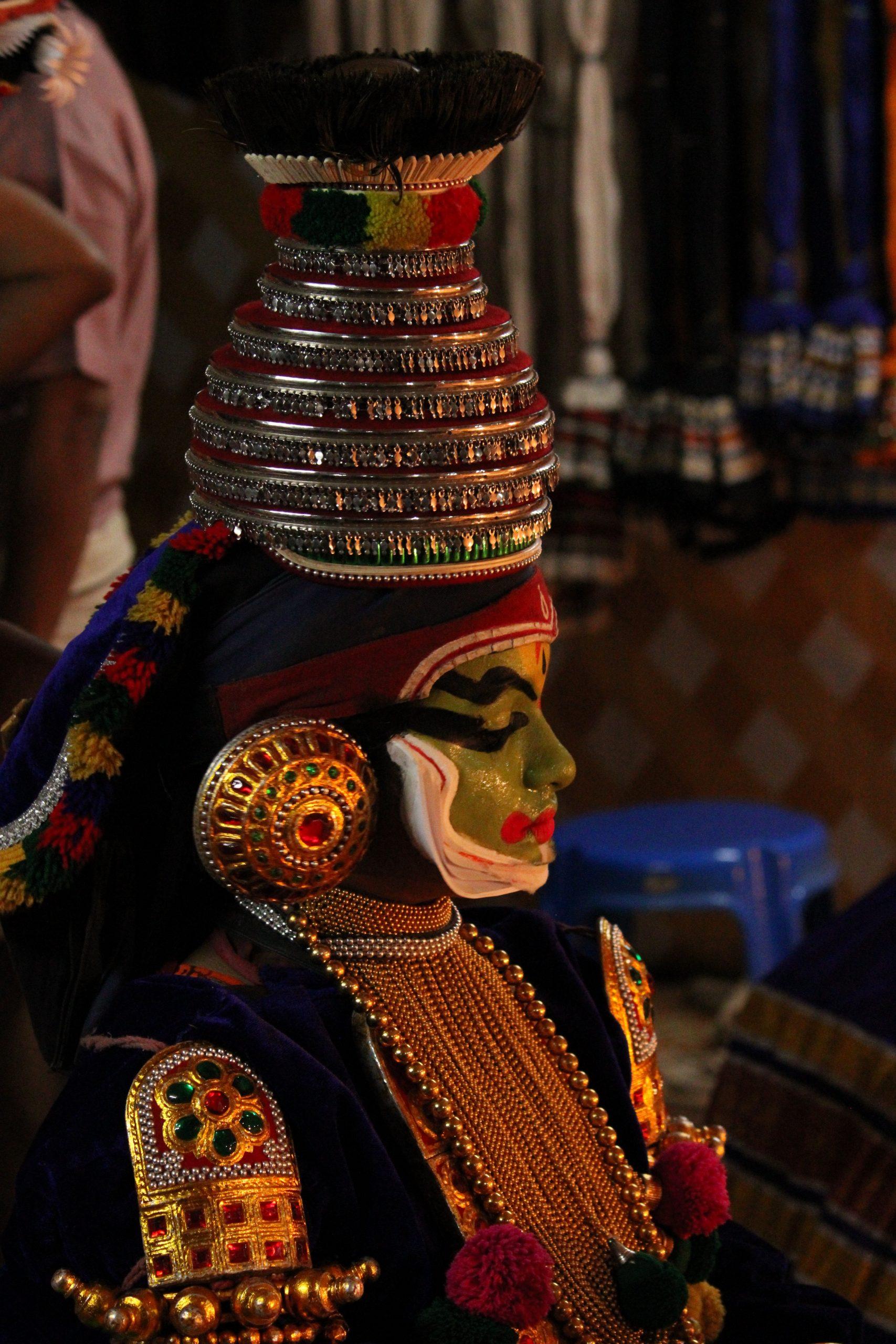A kathakali dancer