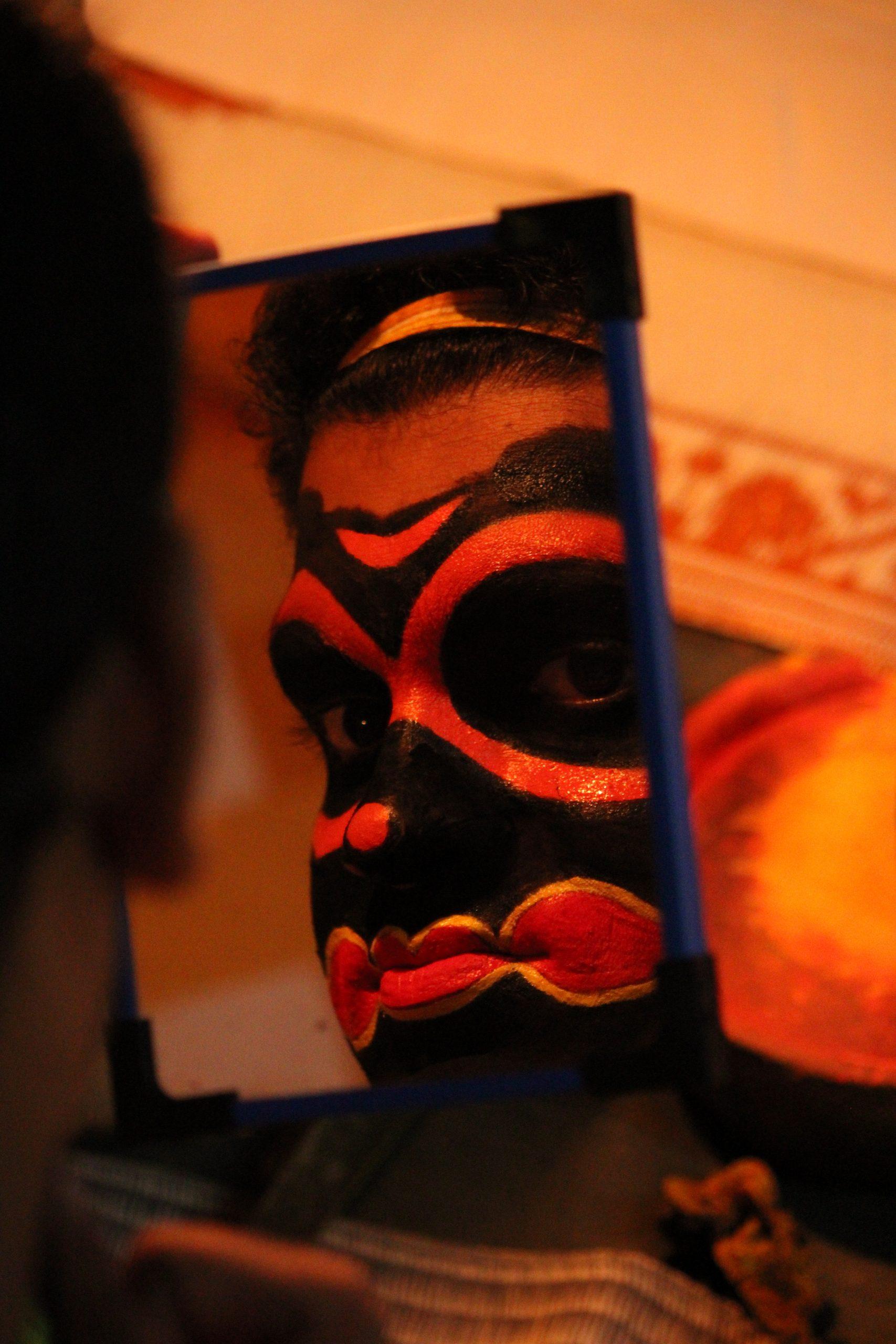 Kathakali Artist with makeup