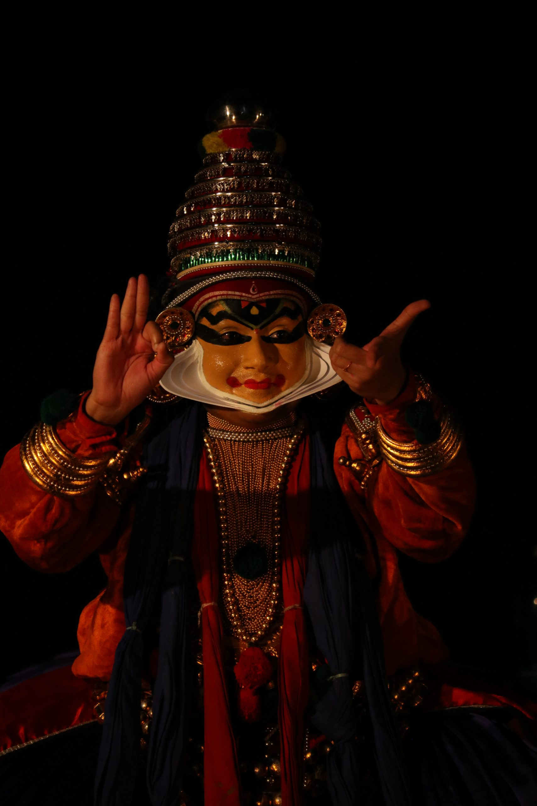 Kathakali artist performing art